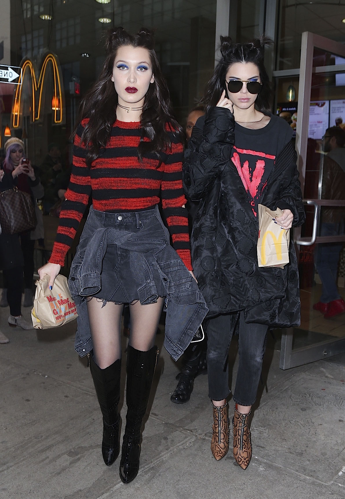 Kendall Jenner and Bella Hadid Grab McDonalds Together Dressed in Grunge