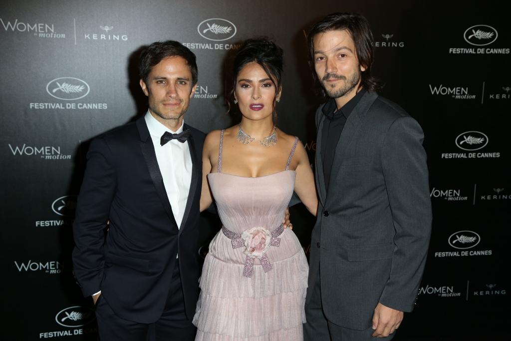 Gael Garcia Bernal, Salma Hayek and Diego Luna