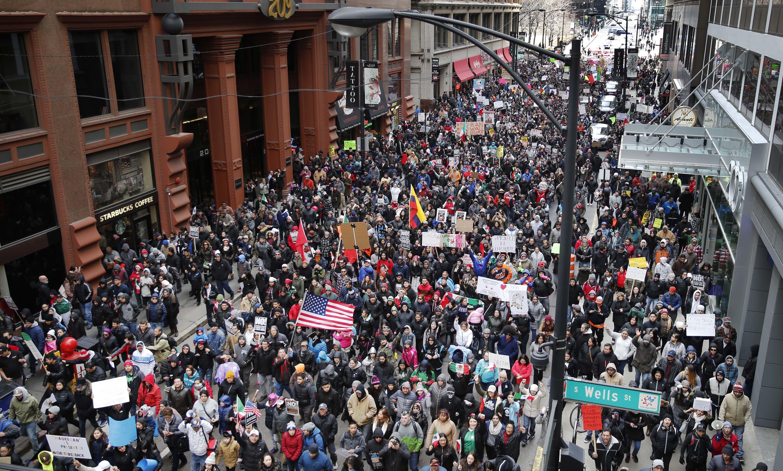"""Protesta de 'Un dia sin inmigrantes"""""""