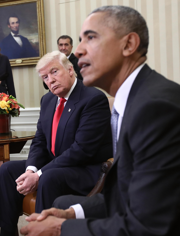 Barack Obama y Donald Trump