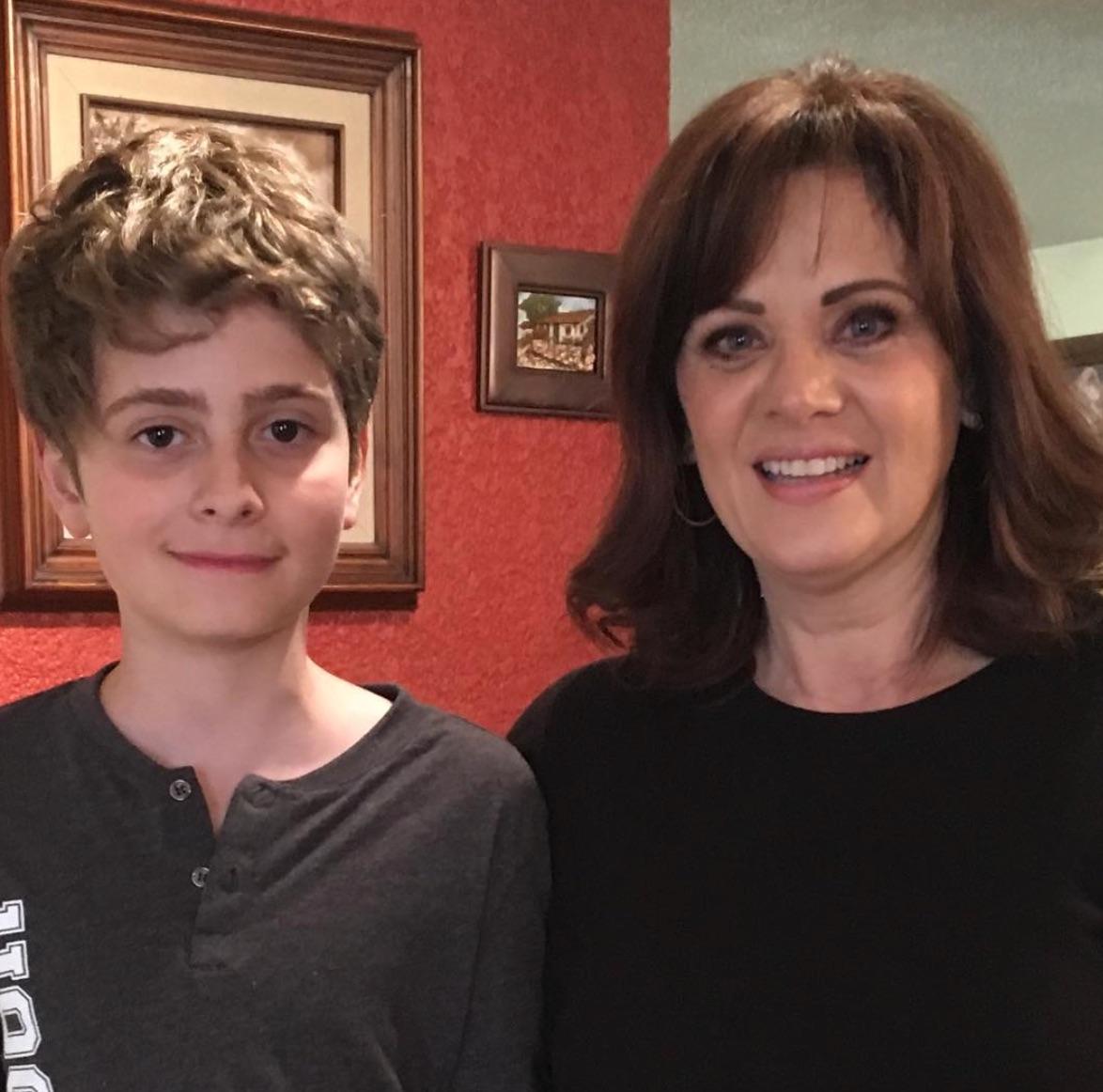 Erika Buenfil y su hijo
