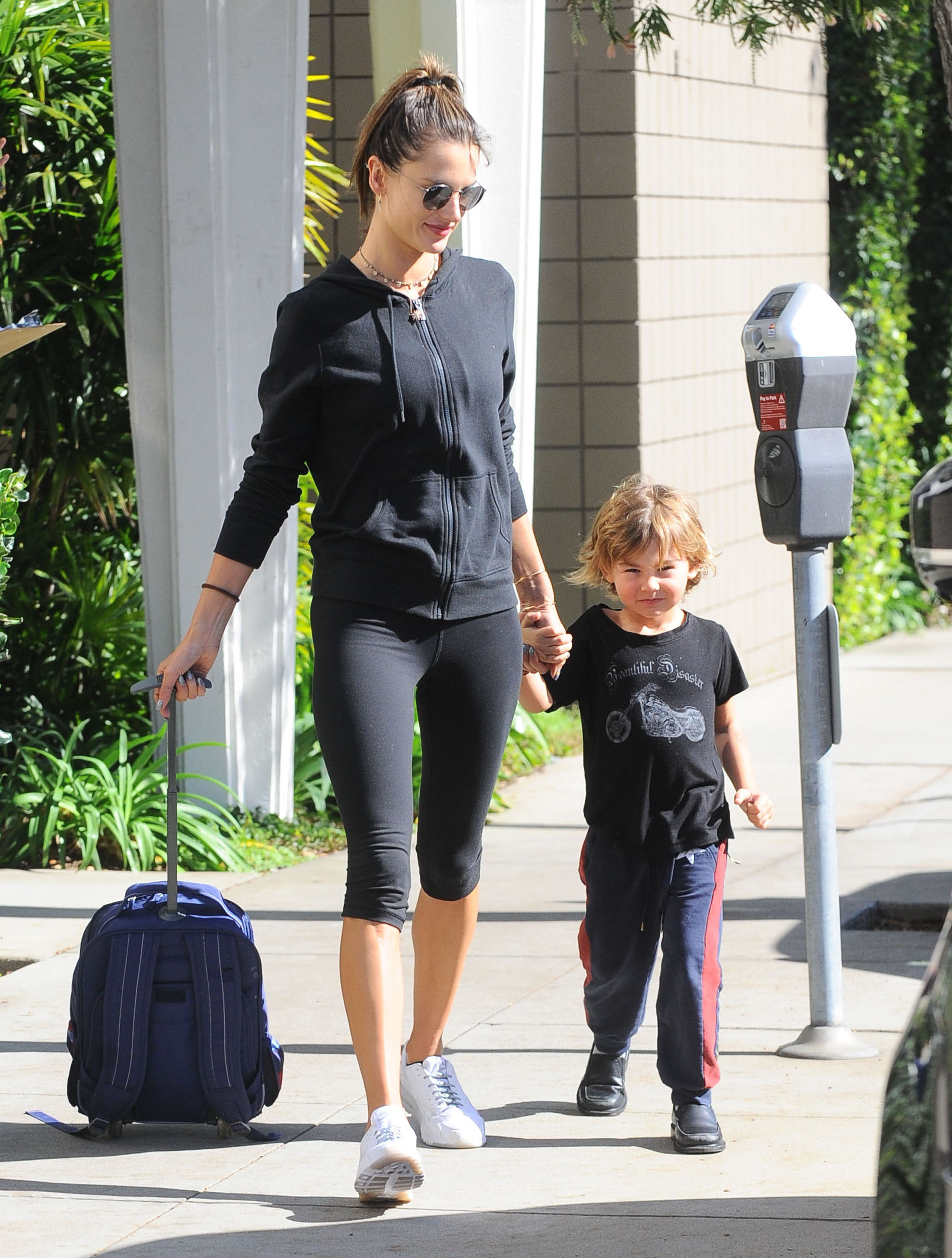 Alessandra Ambrosio Takes Noah To Get A Puppy After School