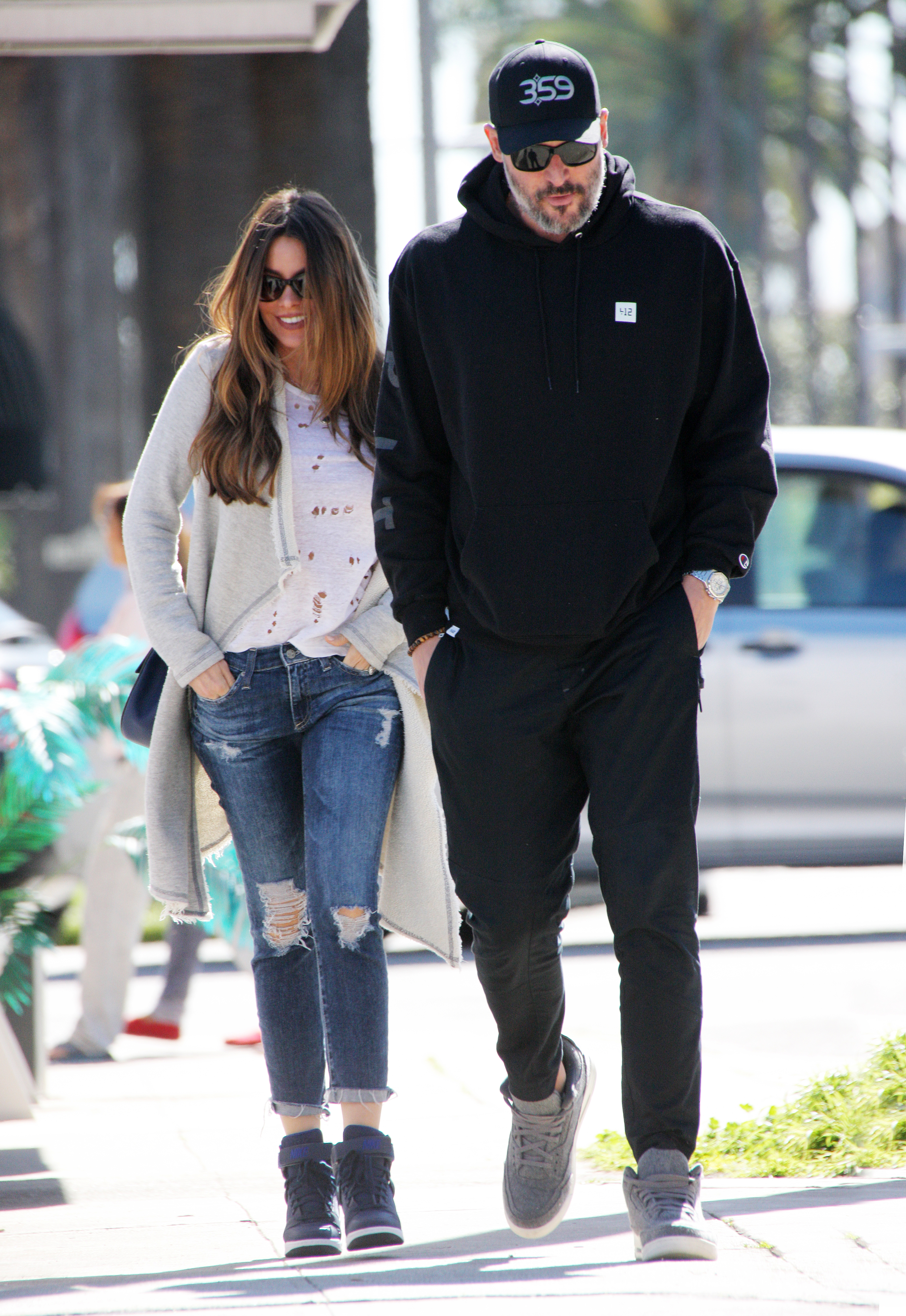 EXCLUSIVE Sofia Vergara Dons Double Distressed Outfit For Lunch Date With Hubby Joe Manganiello