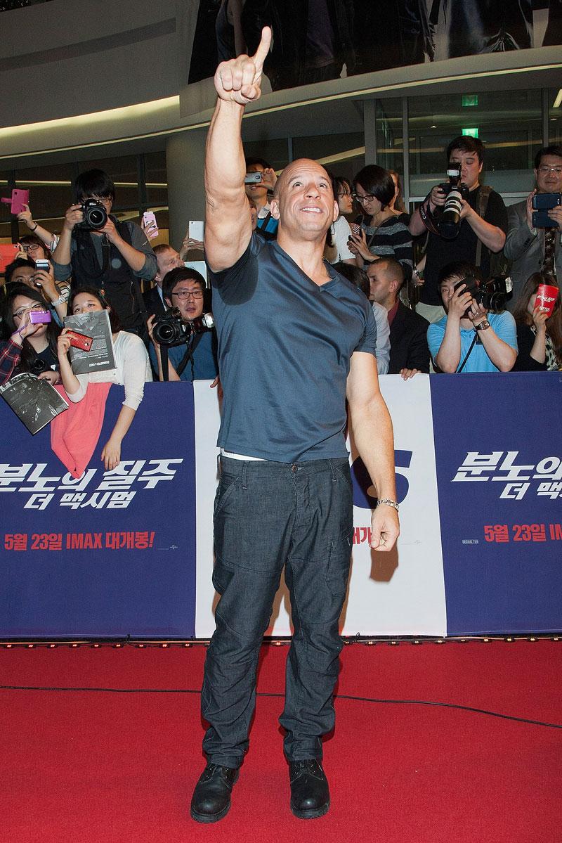 Percances sobre la alfombra, Vin Diesel