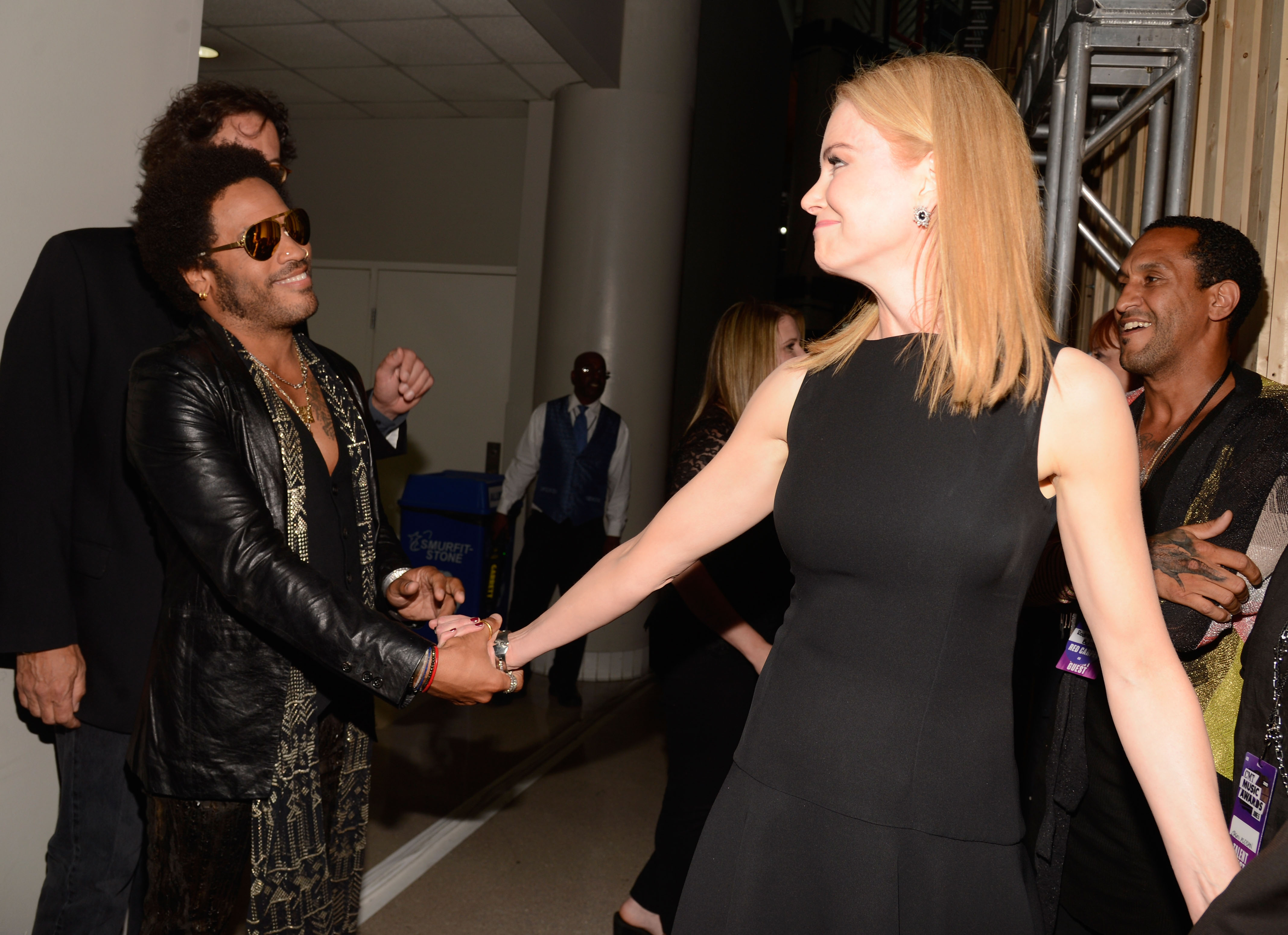Lenny Kravitz y Nicole Kidman