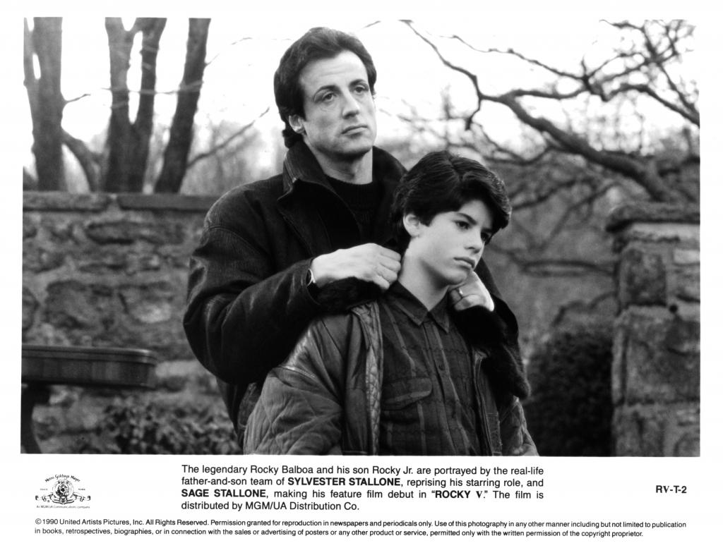 Sylvester Stallone y su hijo, Sage Stallone