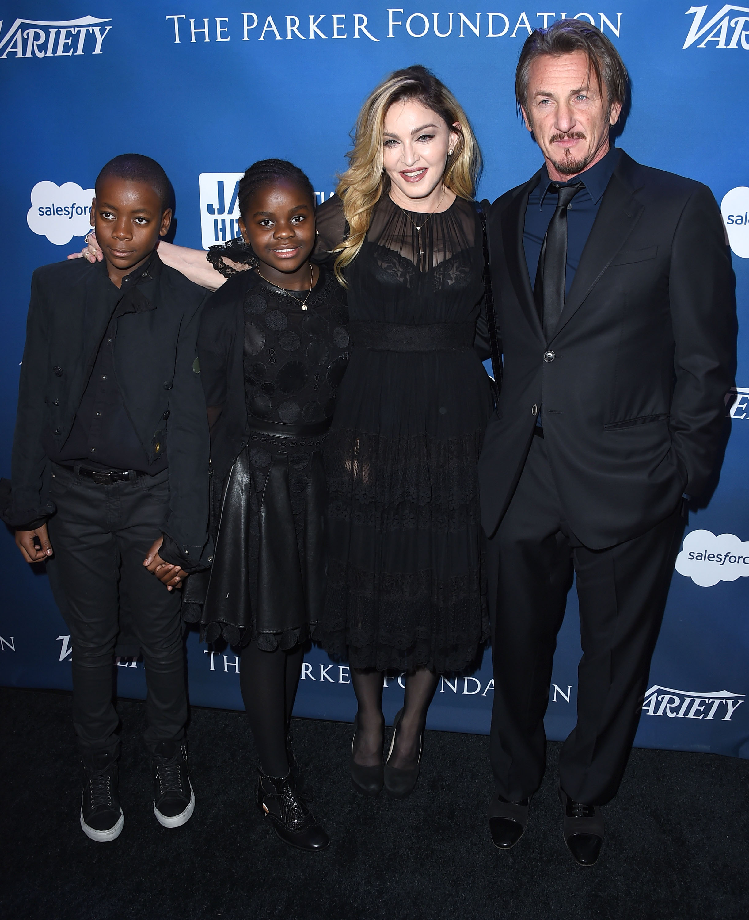 David Banda, Mercy James, Madonna y Sean Penn