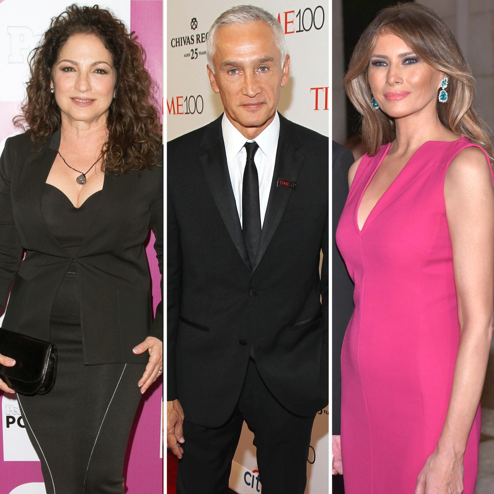 Gloria Estefan, Jorge Ramos y Melania Trump