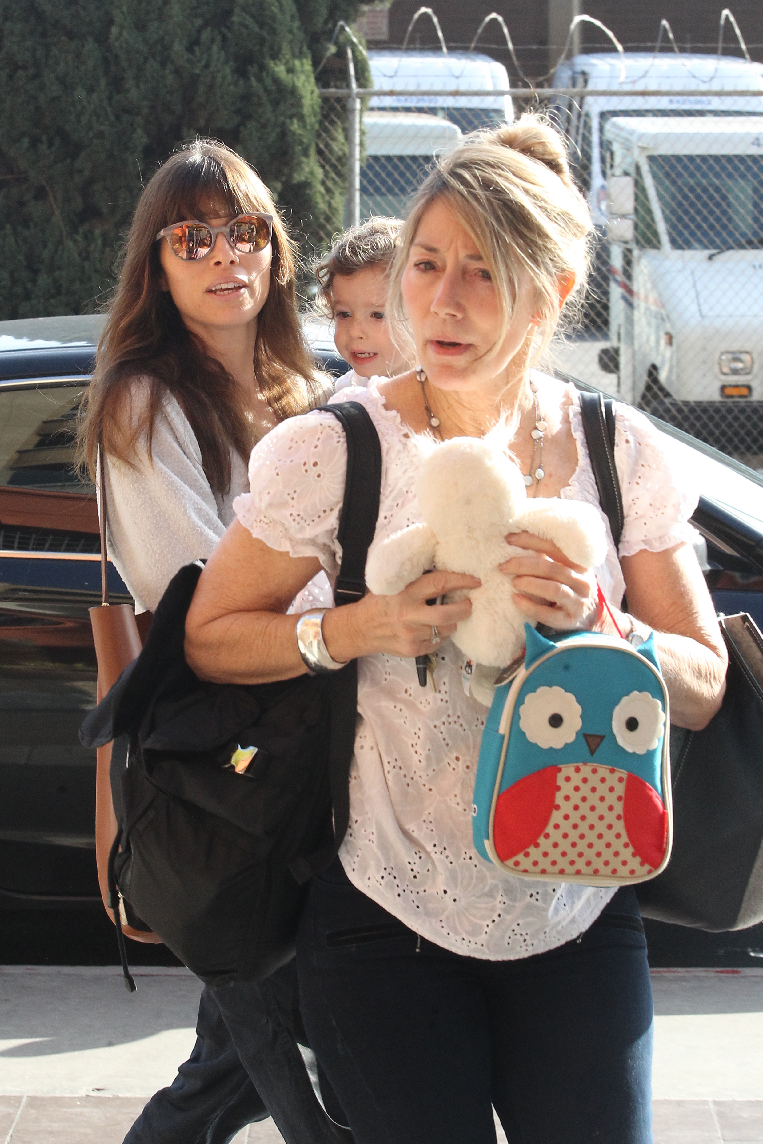 EXCLUSIVE Jessica Biel Goes Relaxed And Stylish For A Playdate With Little Silas