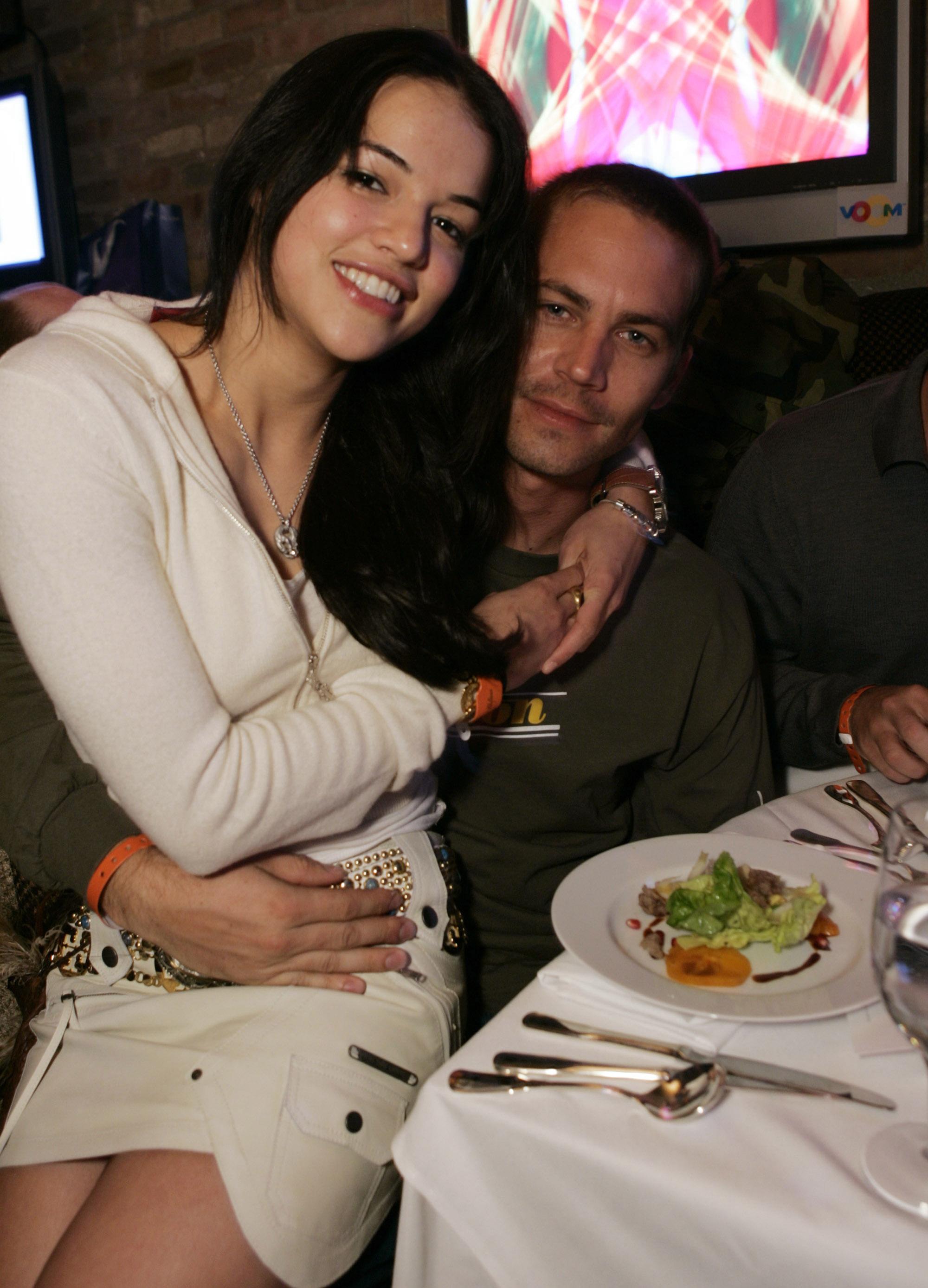 Michelle Rodriguez y Paul Walker