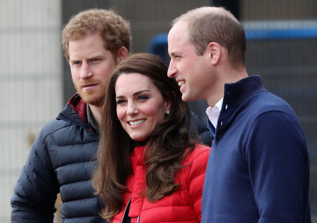 LONDON, ENGLAND - FEBRUARY 05: Prince William, Duke of Cambridge and Catherine, Duchess of Cambridge and Prince Harry join Team Heads Together at a London Marathon Training Day at the Queen Elizabeth Olympic Park on February 5, 2017 in London, England. (Photo by Chris Jackson/Getty Images)