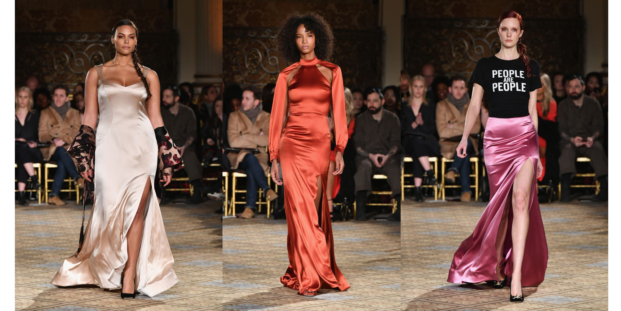 NEW YORK, NY - FEBRUARY 11: A model walks the runway for the Christian Siriano collection during, New York Fashion Week: The Shows at The Plaza Hotel on February 11, 2017 in New York City. (Photo by Slaven Vlasic/Getty Images for New York Fashion Week: The Shows )