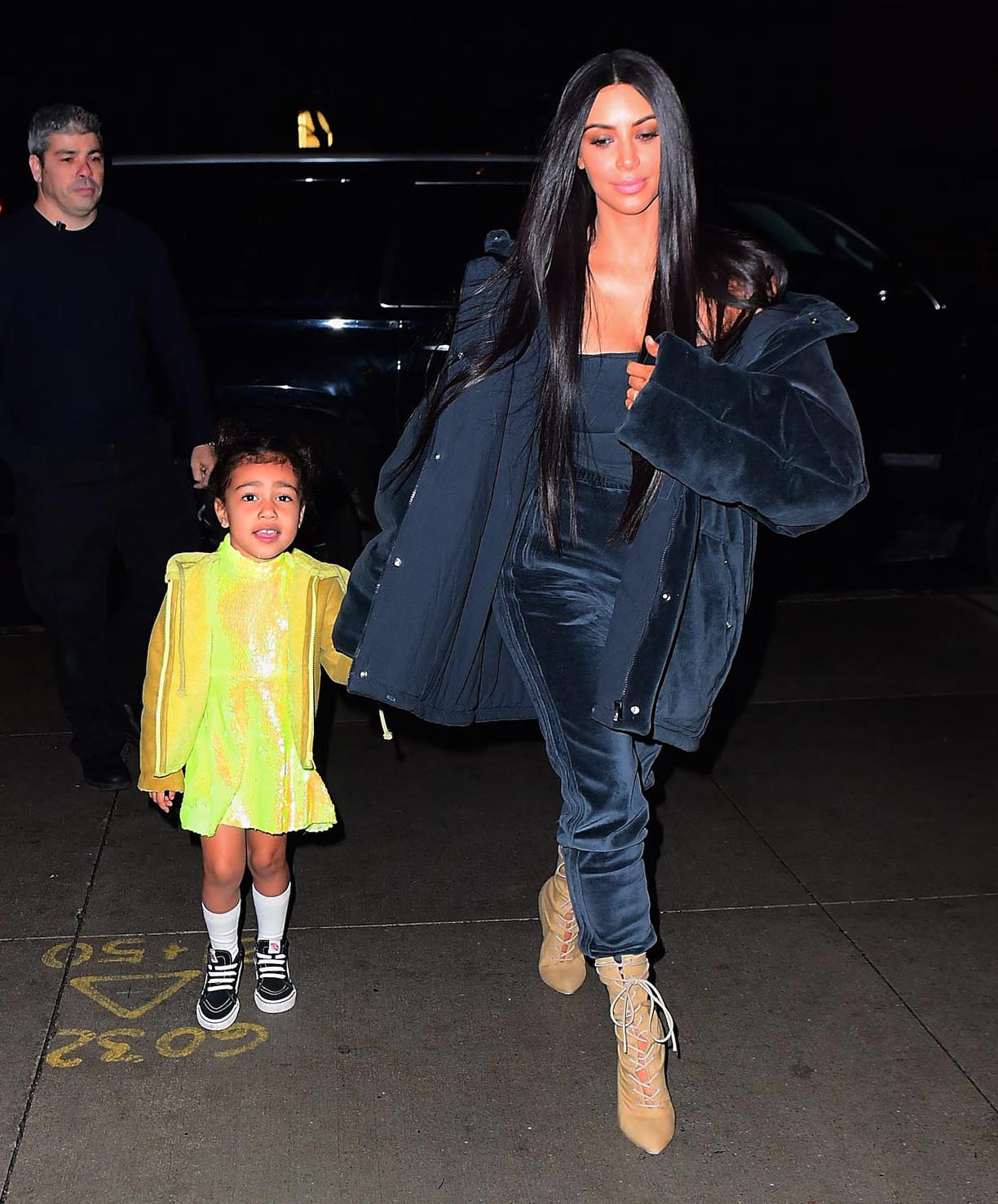 EXCLUSIVE Kim Kardashian Promotes Yeezy Kids Line, Nori Helped by Picking the Color & Fabric!