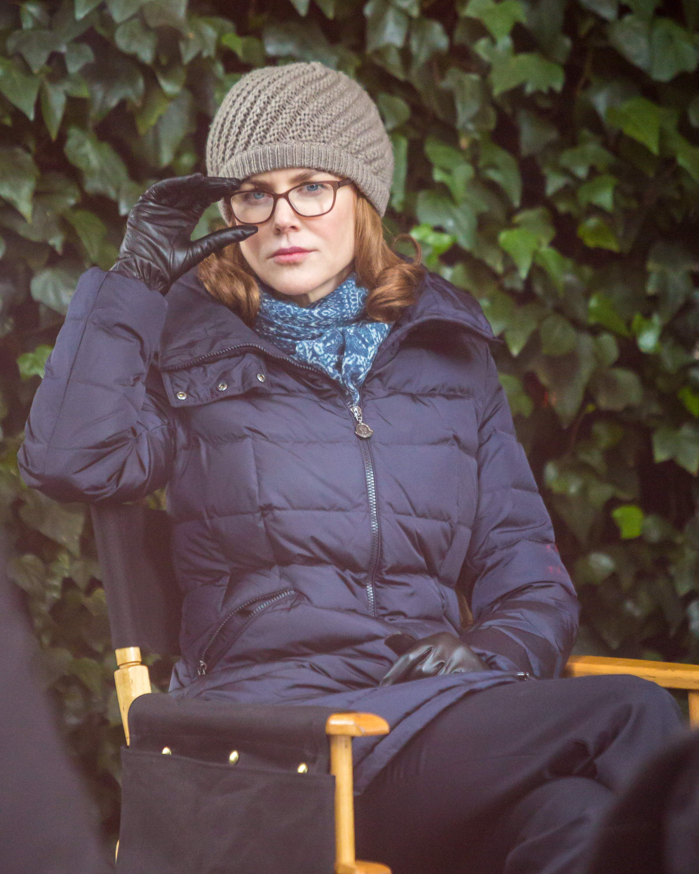 Nicole Kidman Rocks Eyeglasses In Puffer Jacket On NYC Set Of Untouchable