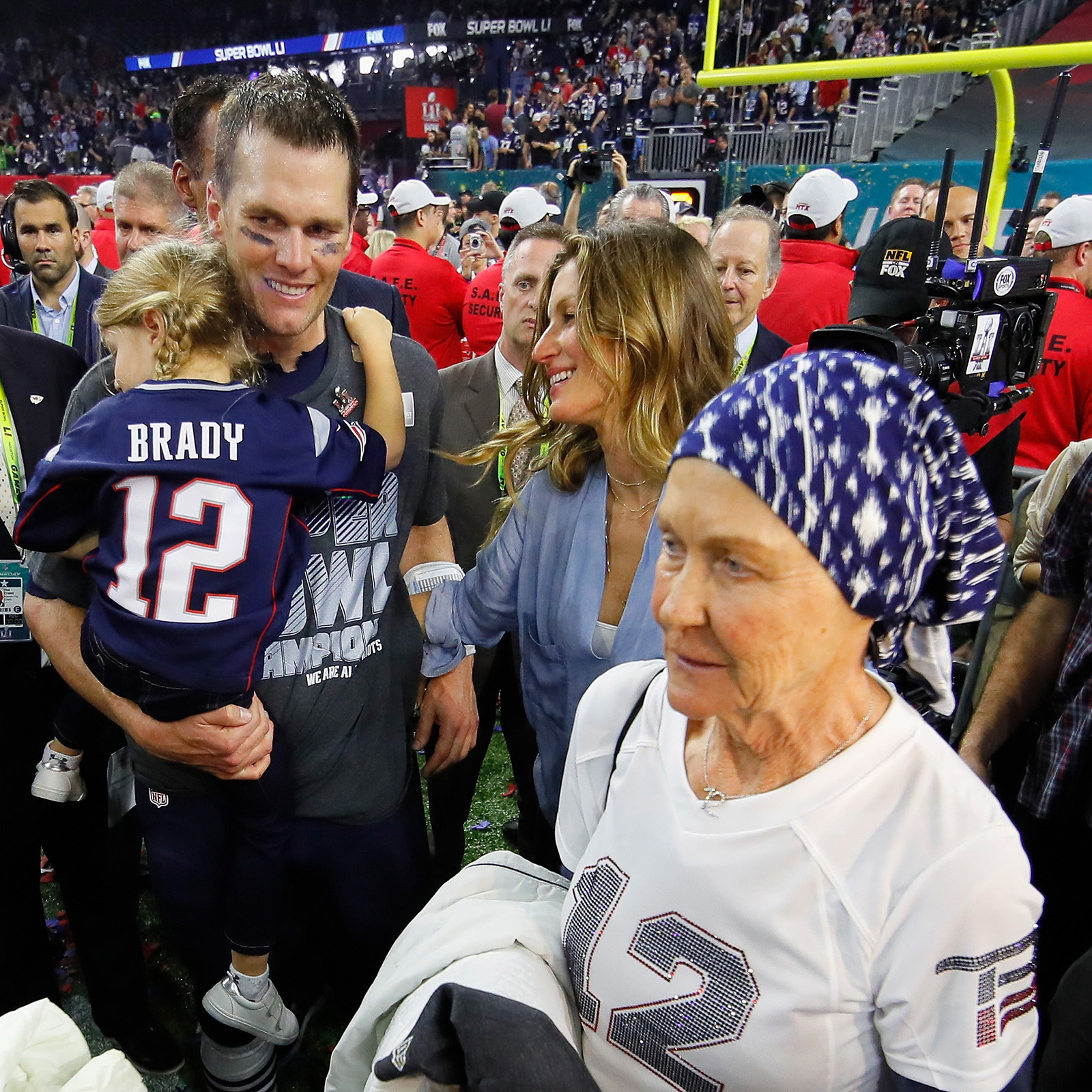 Tom Brady, Gisele Bundchen, Vivian Brady y su mamá Galynn Brady
