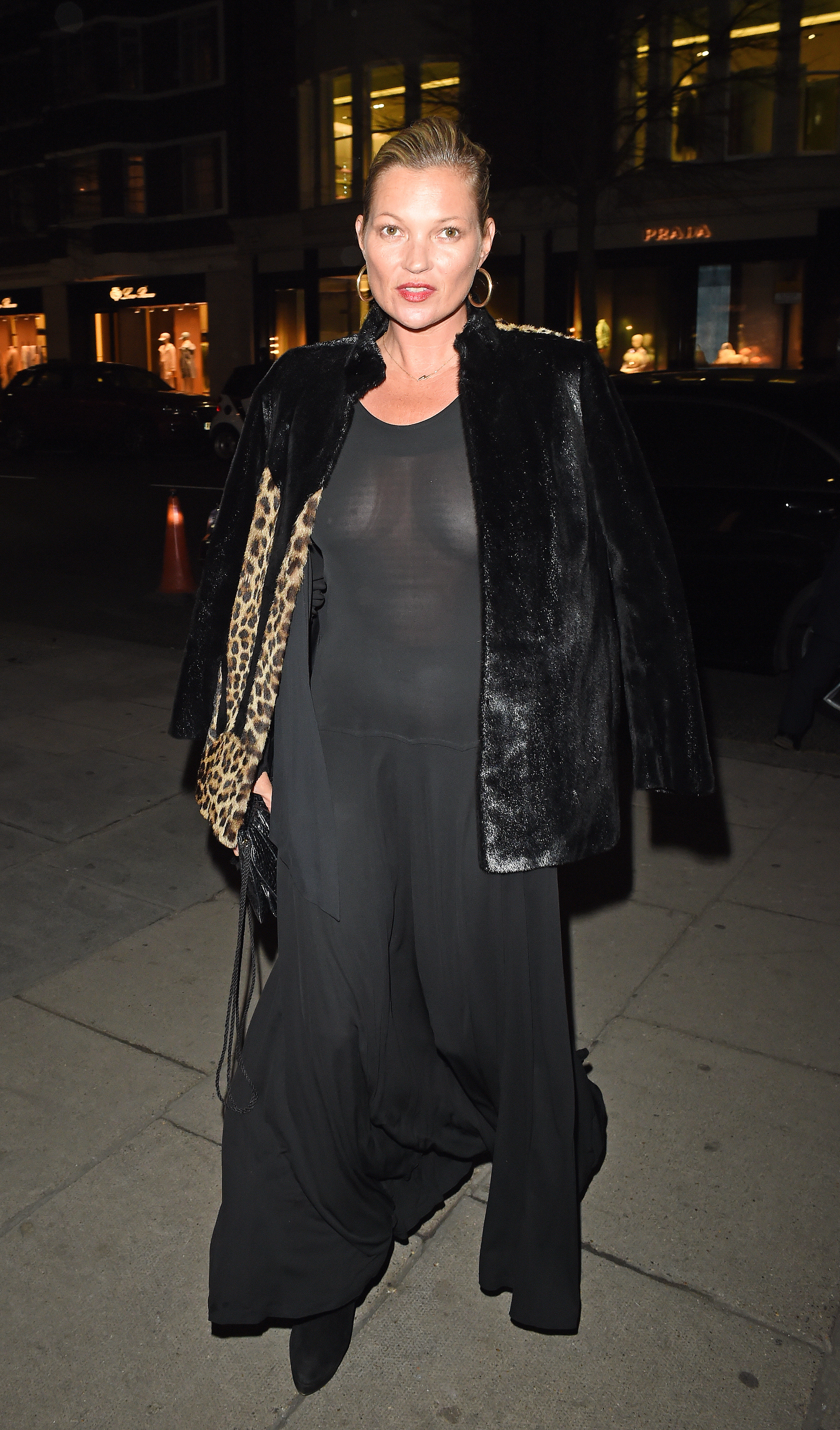 Kate Moss Flashes Her Nipples In Sheer Black Dress At Edward Enninful's Birthday Party