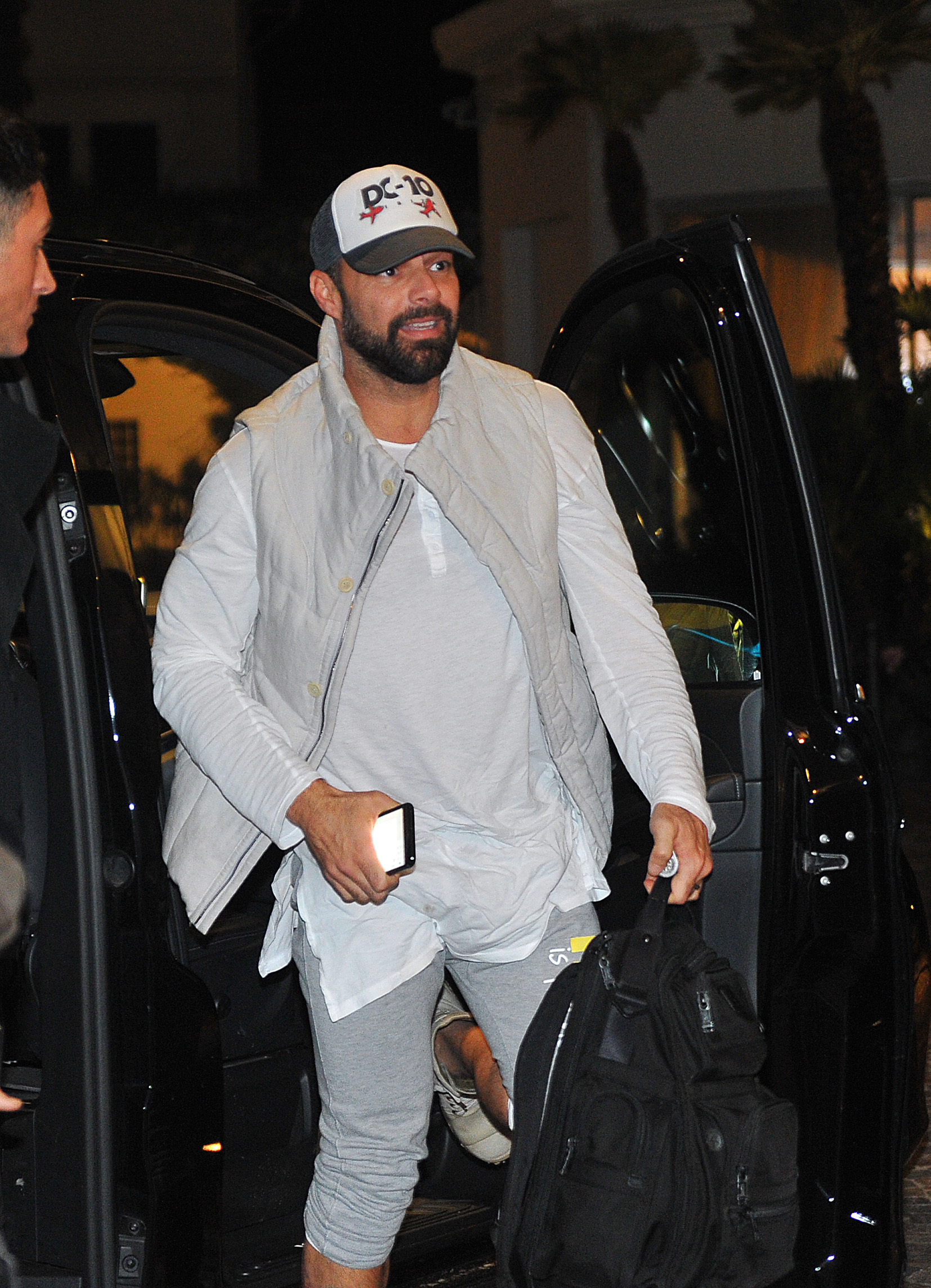 Ricky Martin Rocks Comfy Athletic Wear As He Arrives At His Hotel Ahead Of 'Sanremo Music Festival'