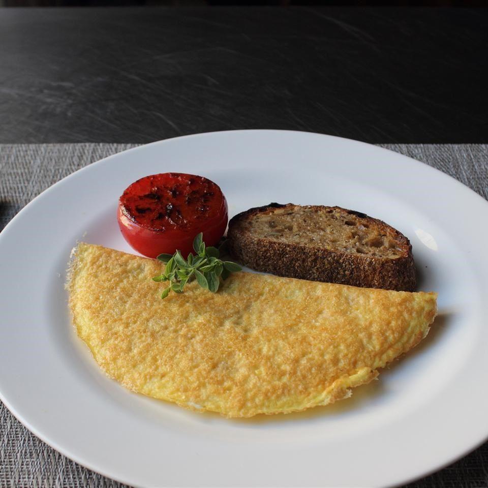 Omelette con queso parmesano