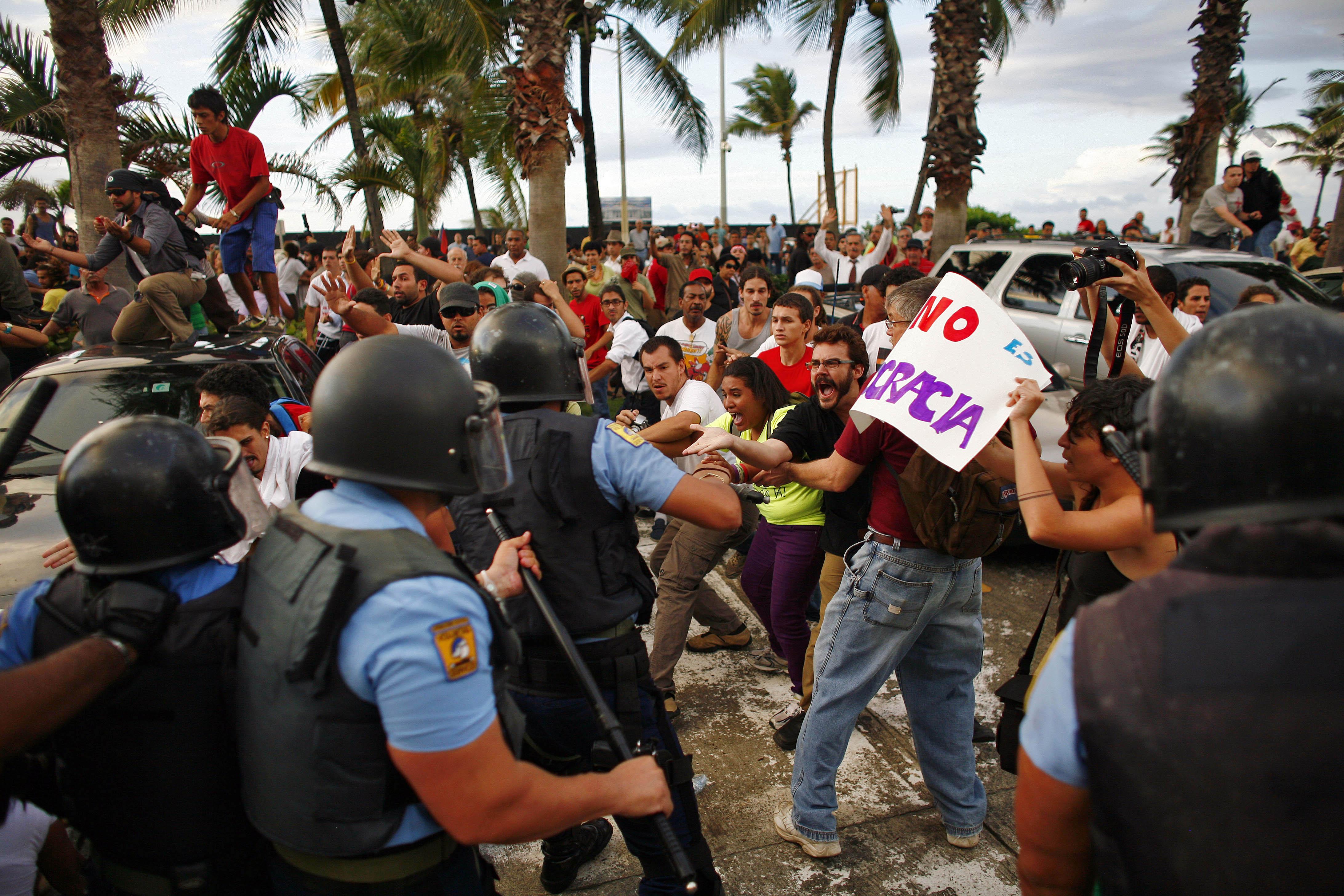 Protesta en la universidad de Puerto Rico