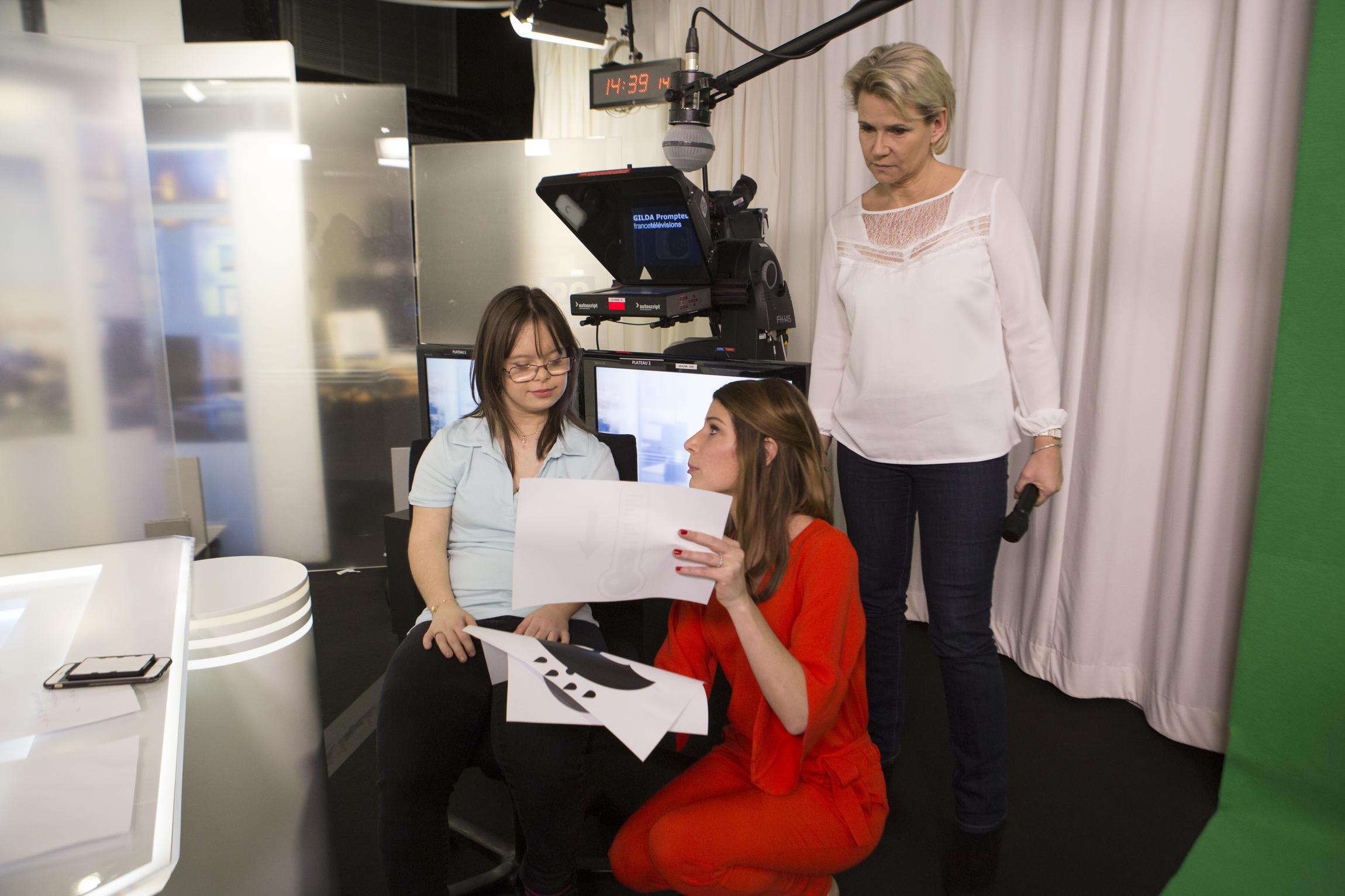 Melanie Segard con Chloe Nabedian y Nathalie Rihouet