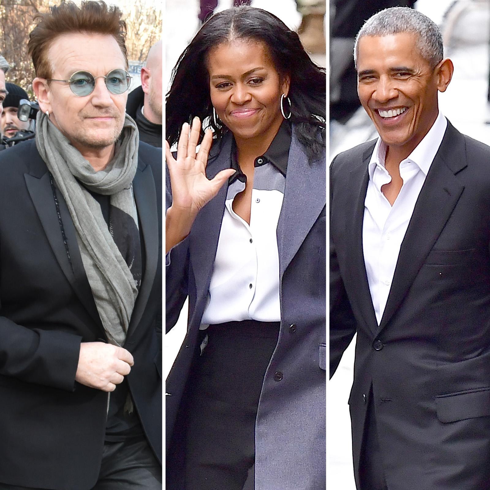 Bono, Michelle y Barack Obama