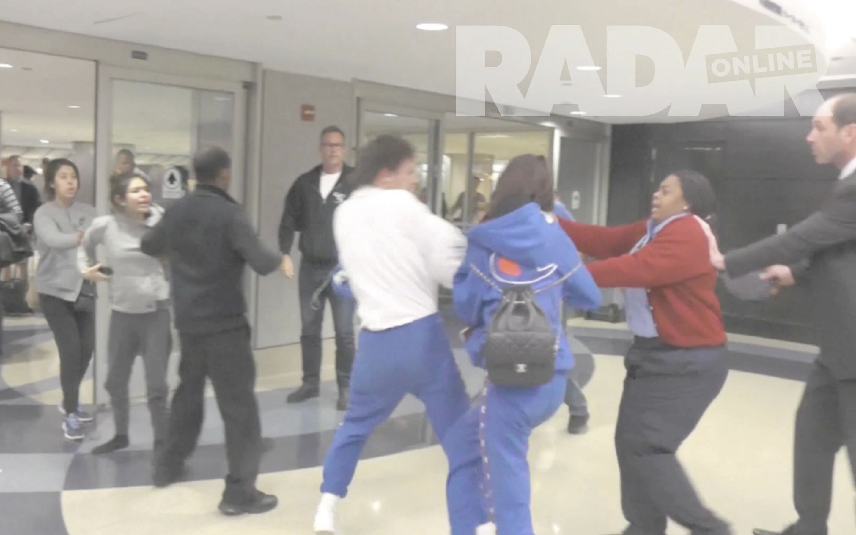 PREMIUM EXCLUSIVE Louis Tomlinson and Eleanor Caldwell Get Into a Mass Brawl at LAX
