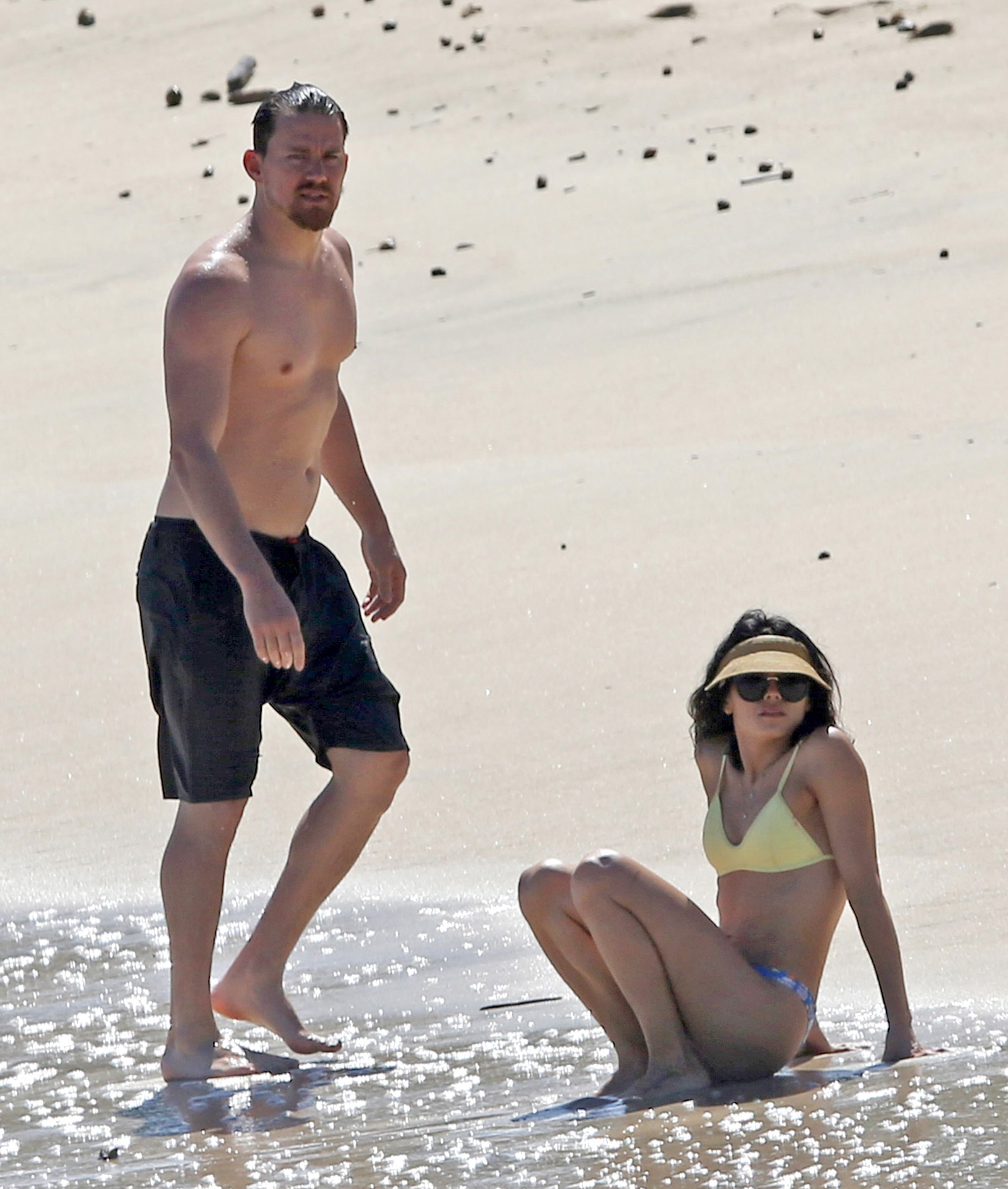EXCLUSIVE Channing Tatum And Jenna Dewan Flash Their Toned Bodies While Relaxing In Hawaii