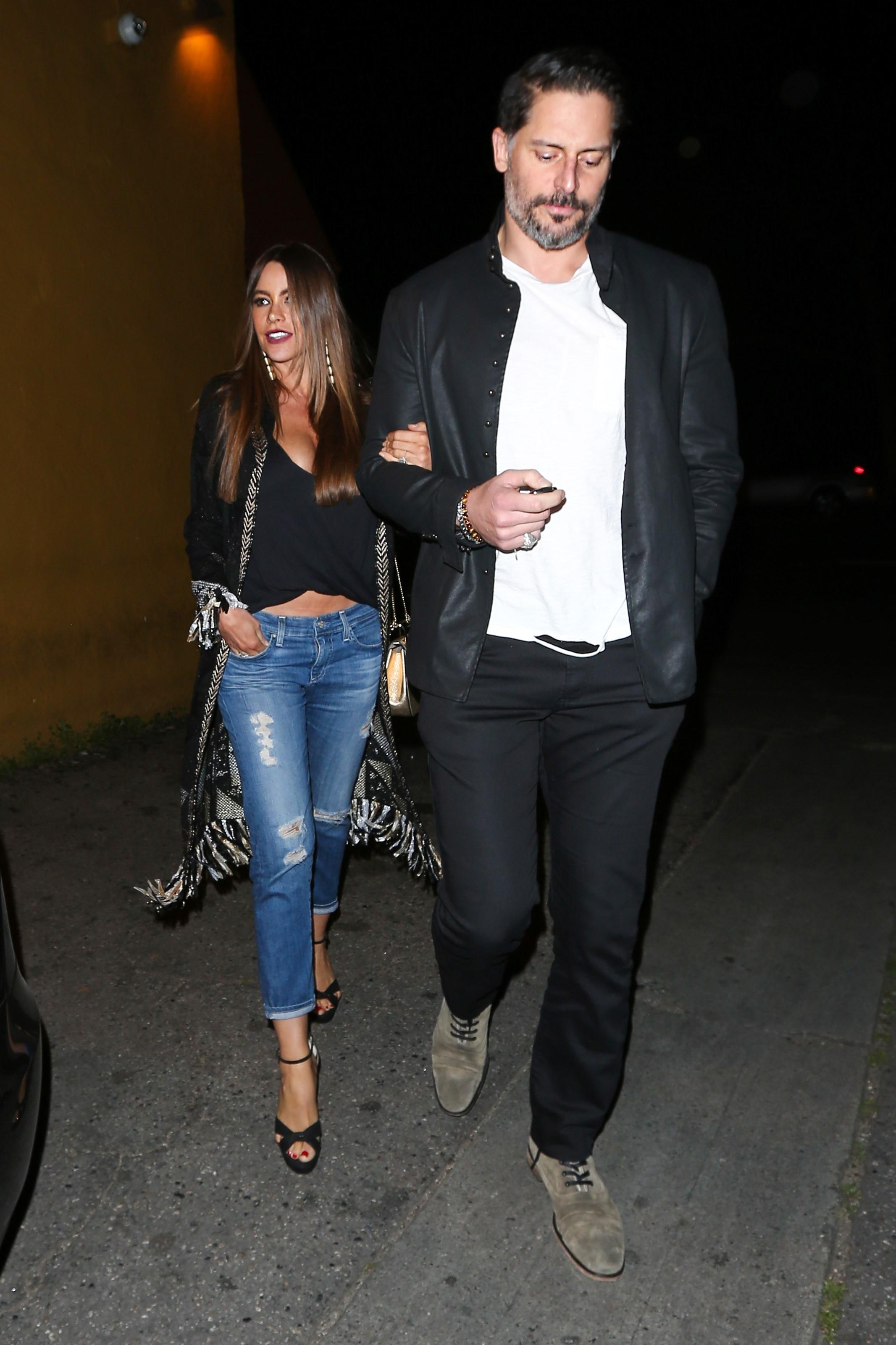 EXCLUSIVE Sofia Vergara Flashes Some Cleavage As She Enjoys Date Night With Husband Joe Manganiello