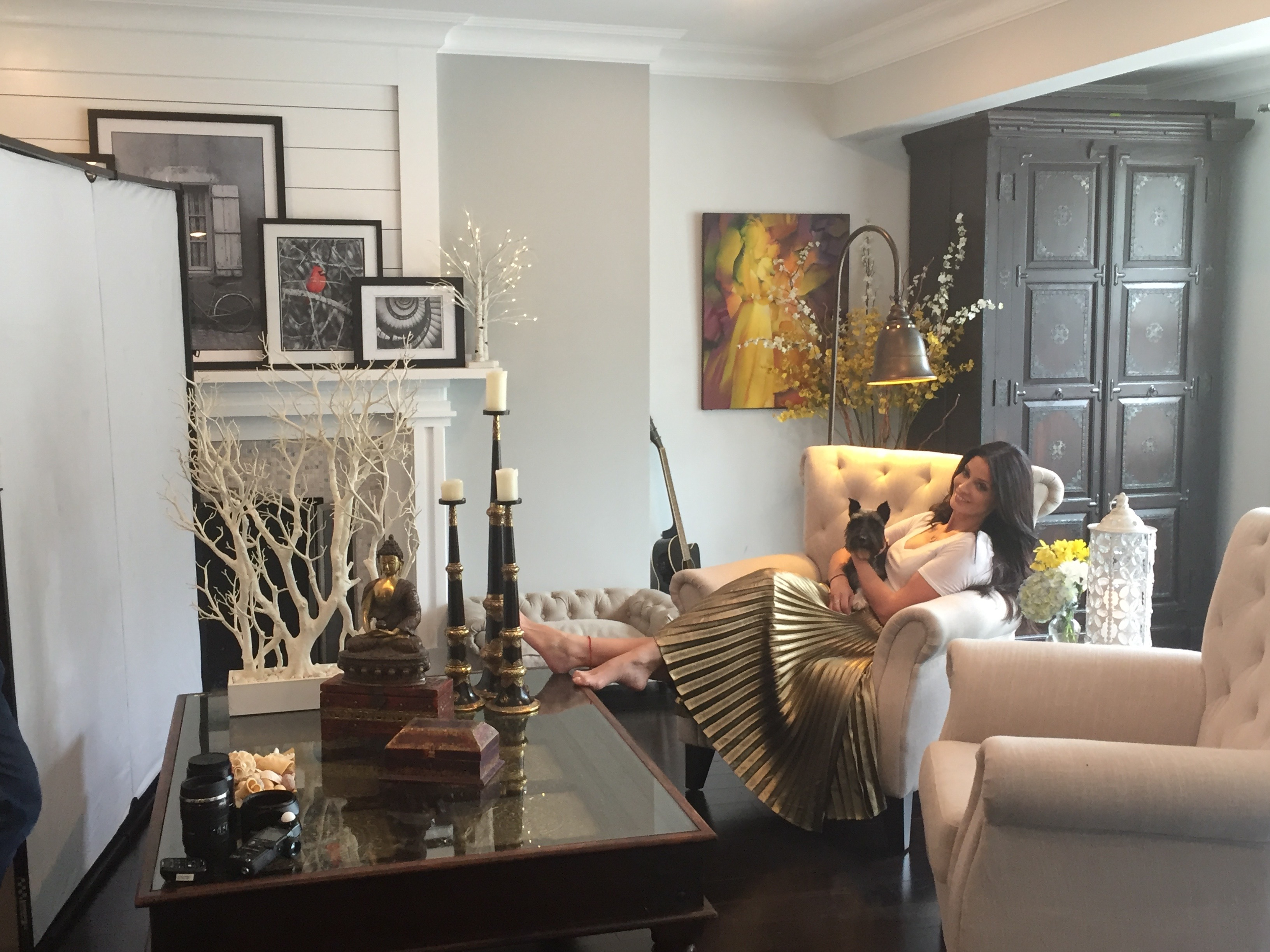 BTS shoot de Dayanara Torres con hijos en su casa de Los Angeles
