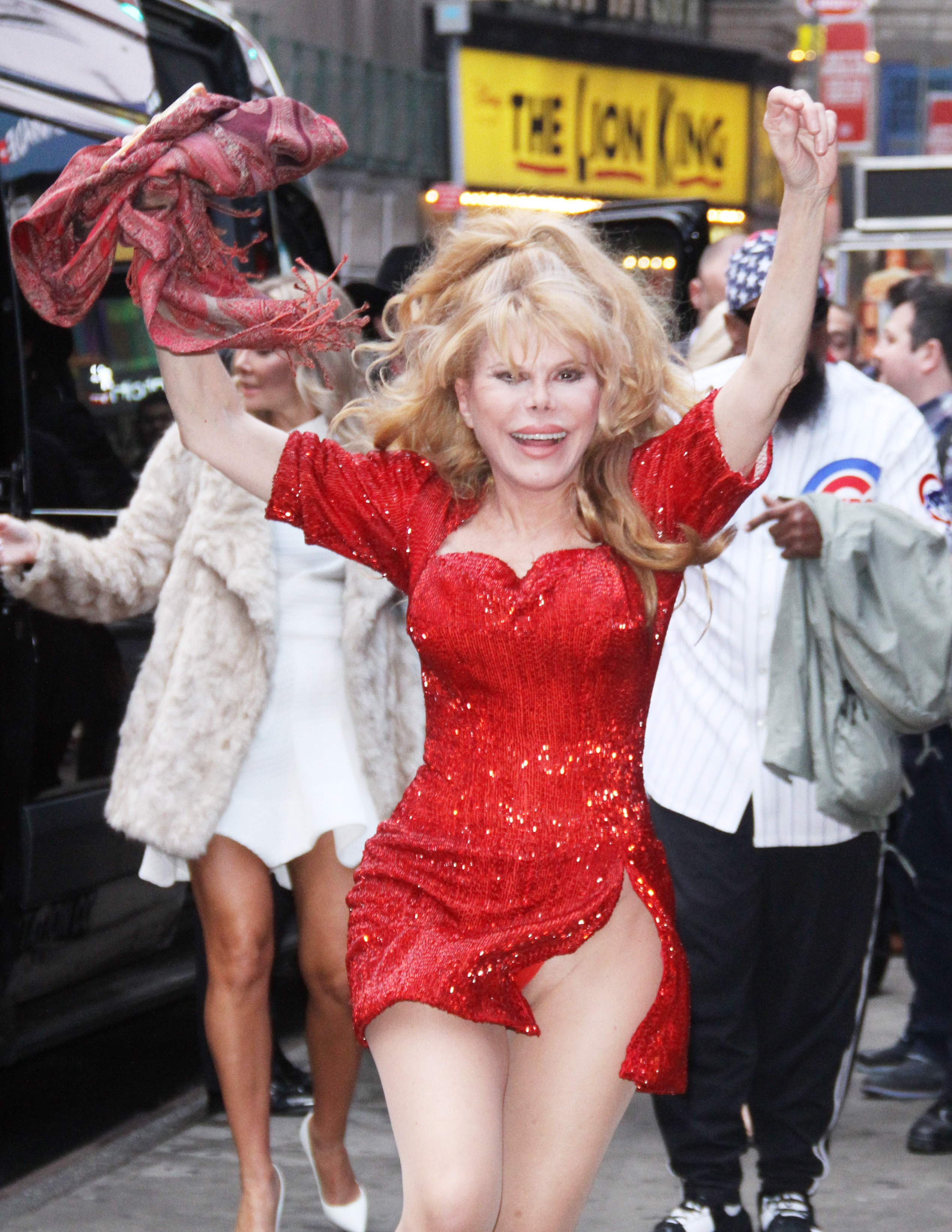 Charo Suffers Wardrobe Malfunction As She Jumps For Joy In A Skimpy Red Dress At GMA
