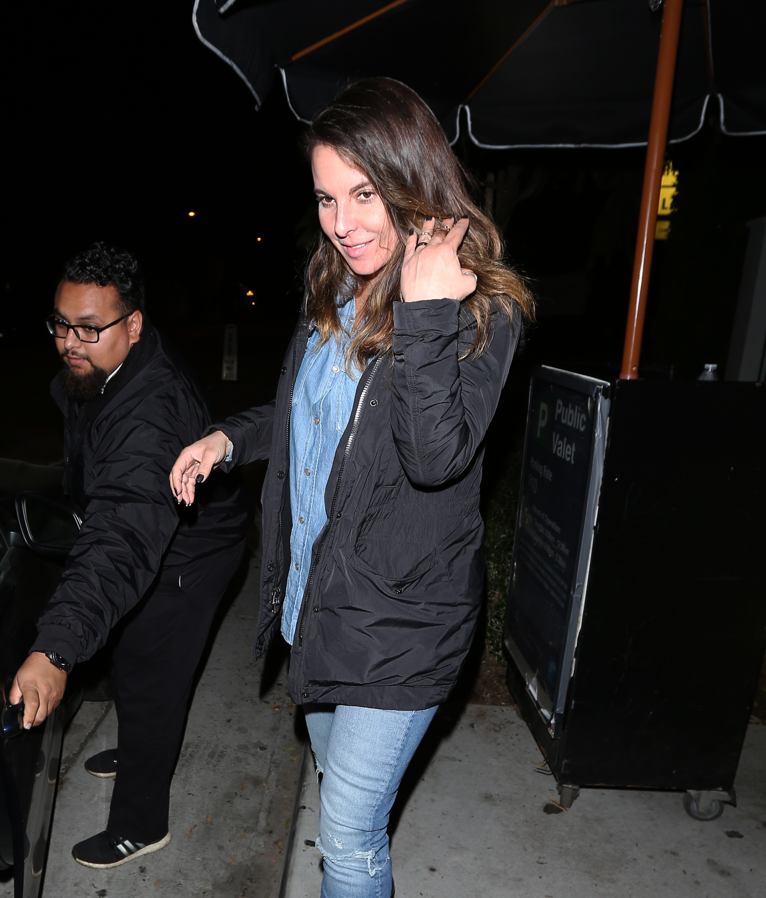 EXCLUSIVE Kate Del Castillo Goes Makeup-Free In Double Denim Out For Dinner In WeHo