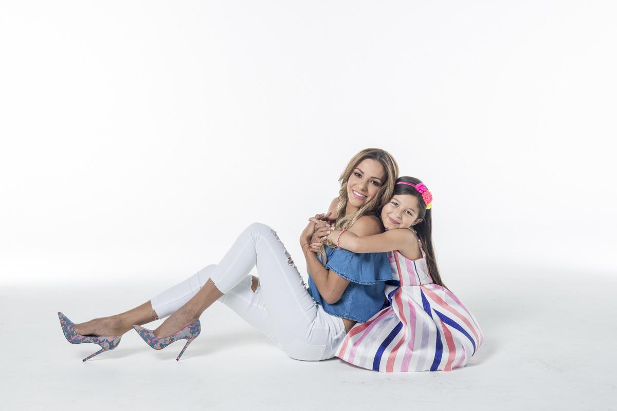 Nathalia Casco y su hija Daniela