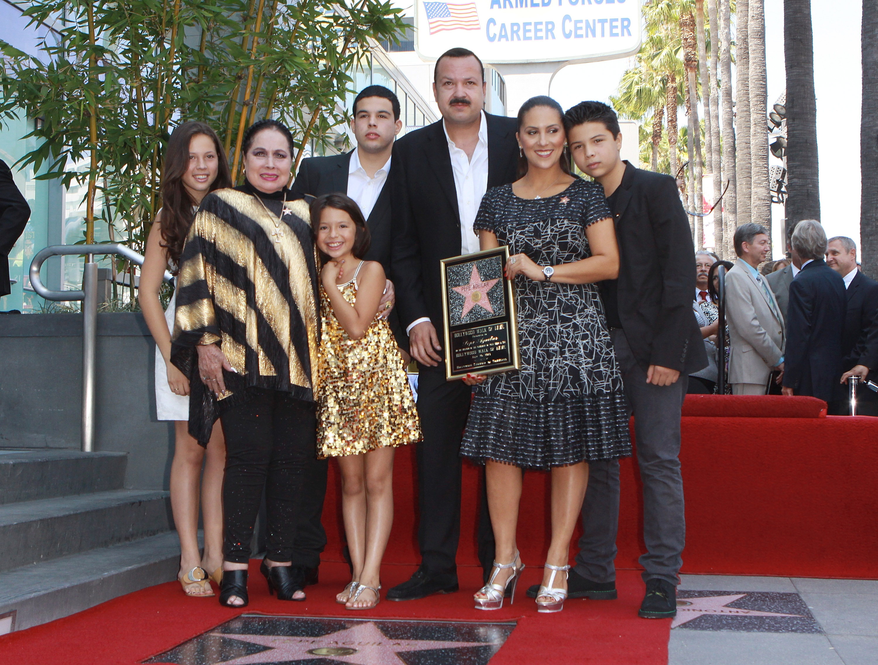 Latin Singer Pepe Aguilar Honored With Star On The Hollywood Walk Of Fame