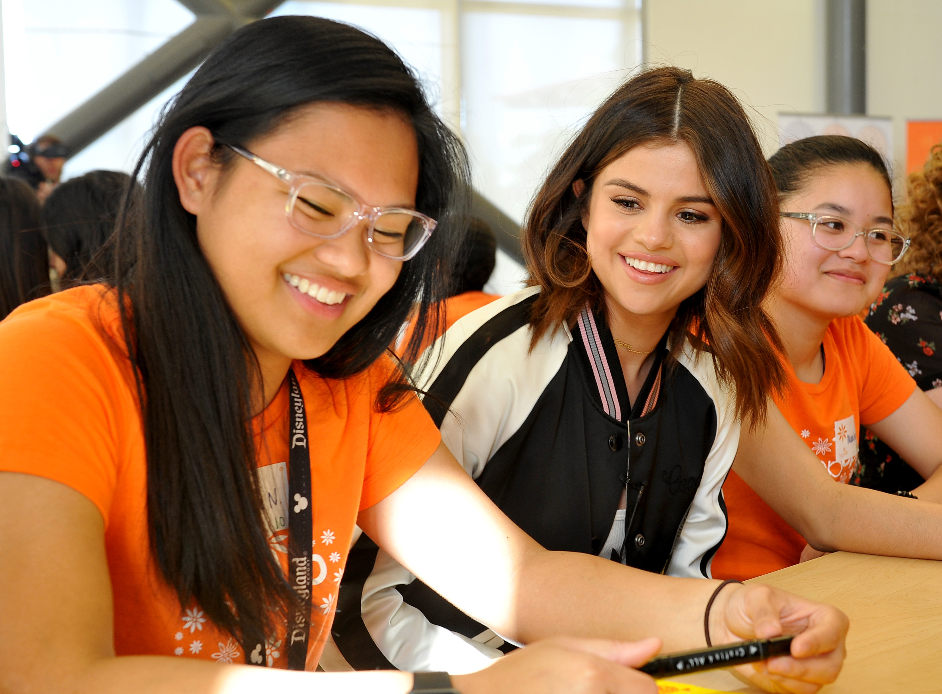 Selena Gomez and Coach Surprise Step Up Teens at LA High Schools