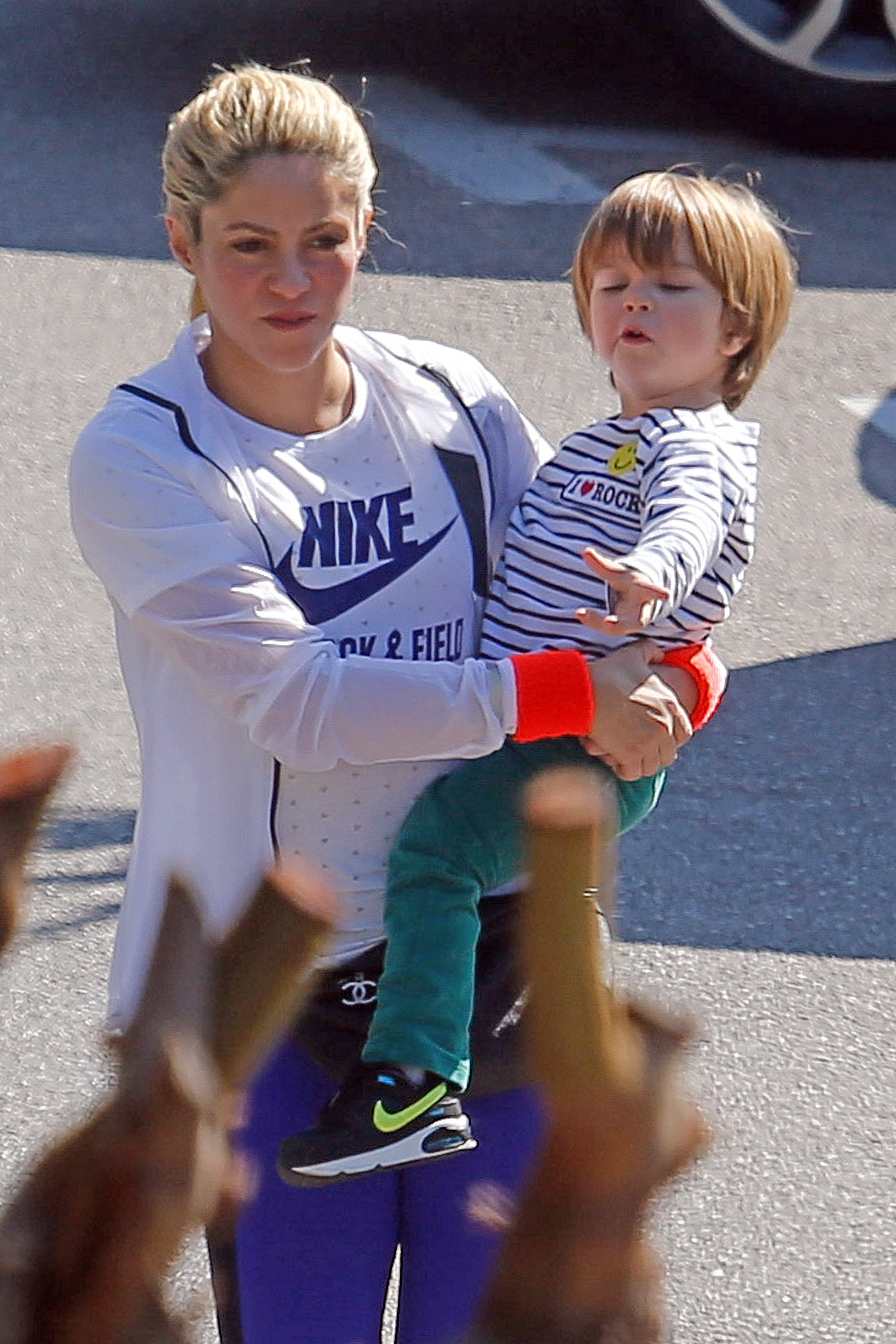 EXCLUSIVE Shakira Cuts A Sporty Figure As She Takes Son Sasha To Swimming Lessons