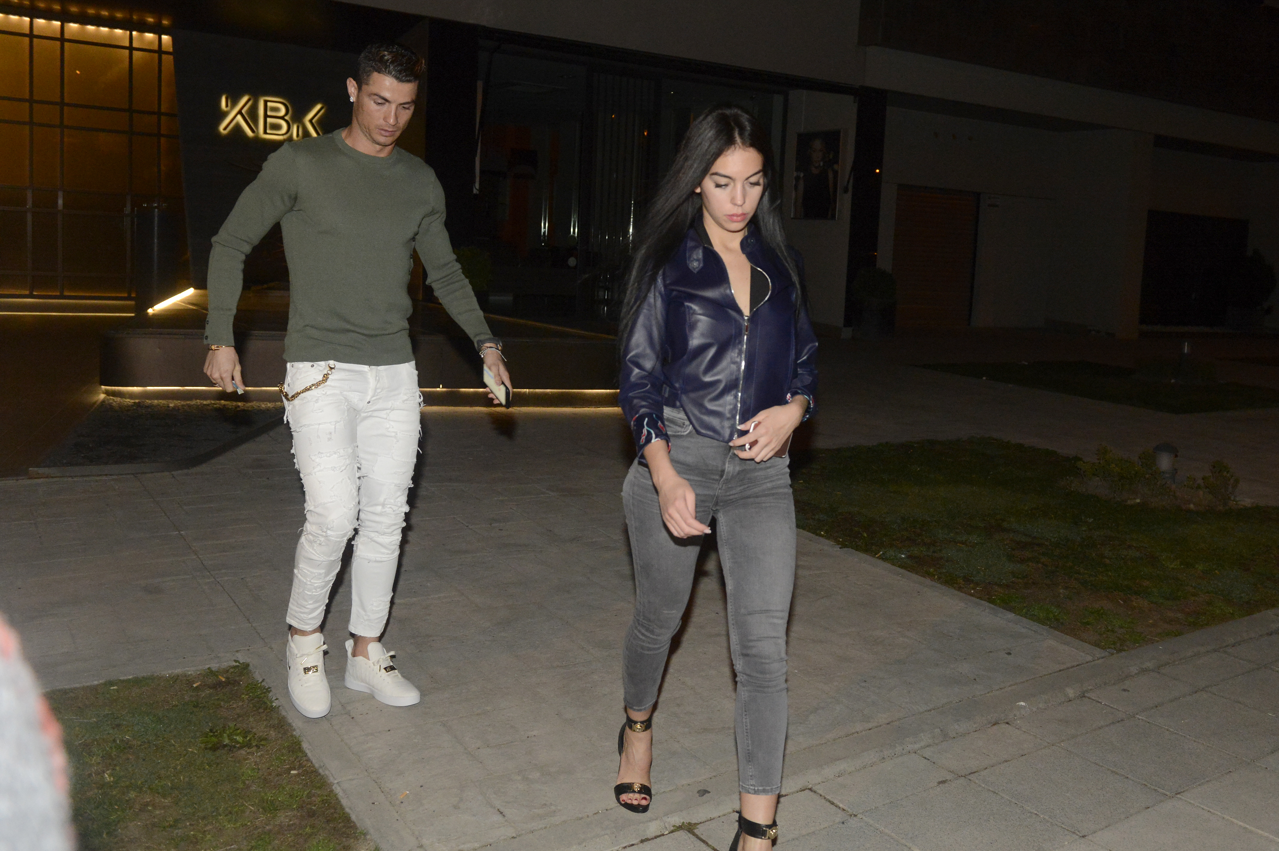Cristiano Ronaldo and Giorgina Rodriguez Have a Late Night Dinner Date in Madrid
