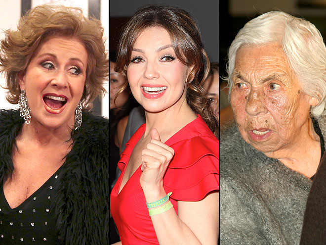 THALÍA VS. HER GRANDMOTHER