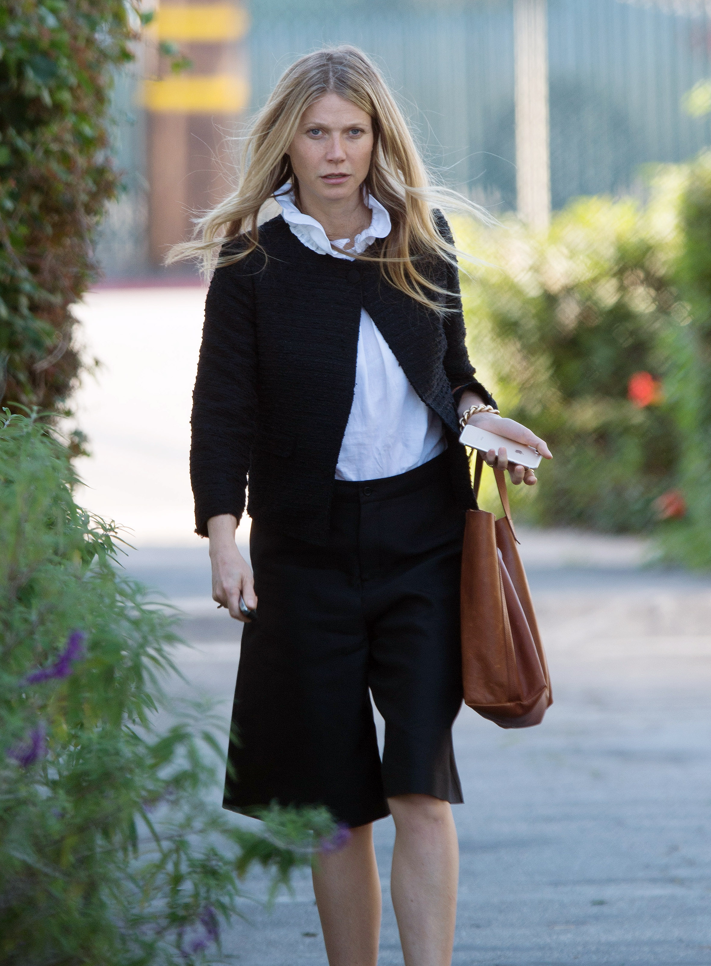 EXCLUSIVE Gwyneth Paltrow Looks Ready For Business In Petite Cardigan And Culottes