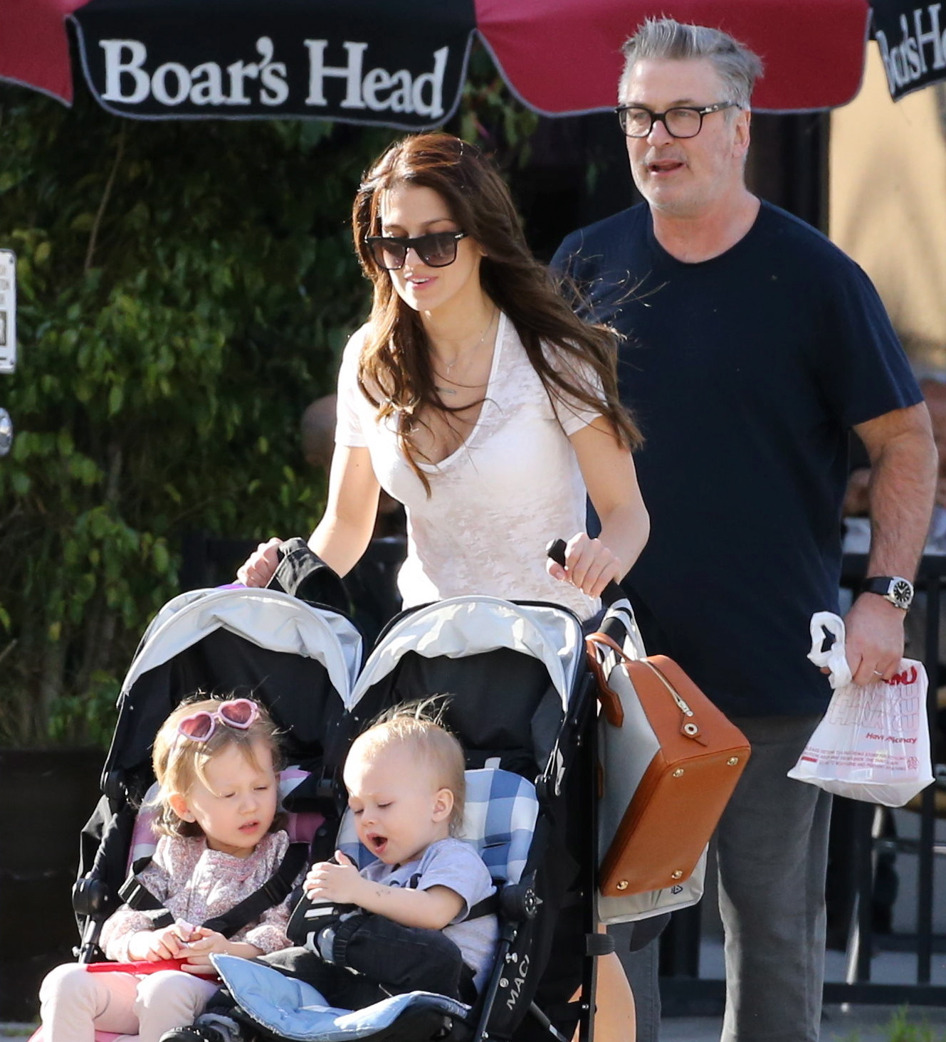 Alec Baldwin Enjoys A Casual Meal While Running Errands With Hilaria And Their Kids