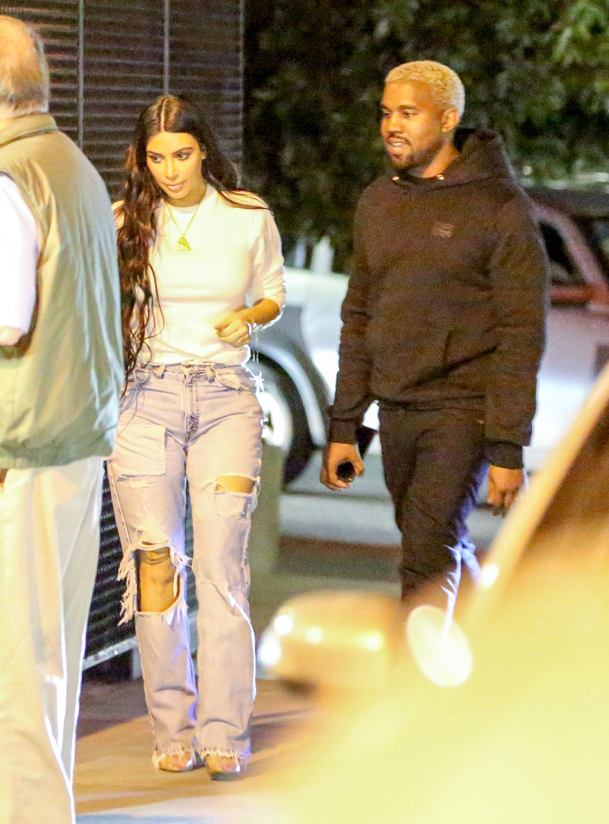 EXCLUSIVE Kim Kardashian Goes For A Relaxed Dinner Date With Kanye West After Busy Day