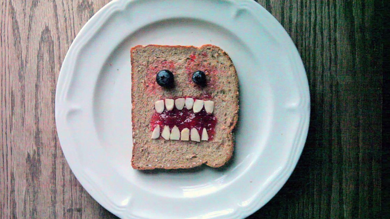 Monstruo de pan para niños