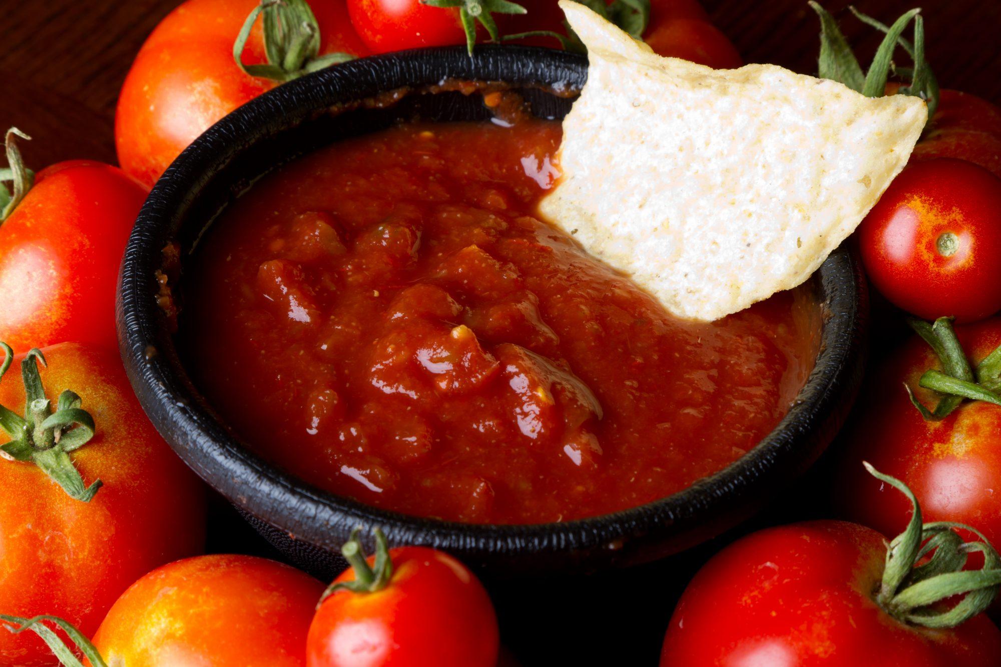 Salsa roja para tostadas