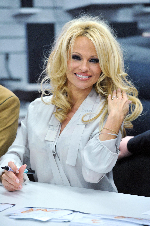 Pamela Anderson Visits Lugner City