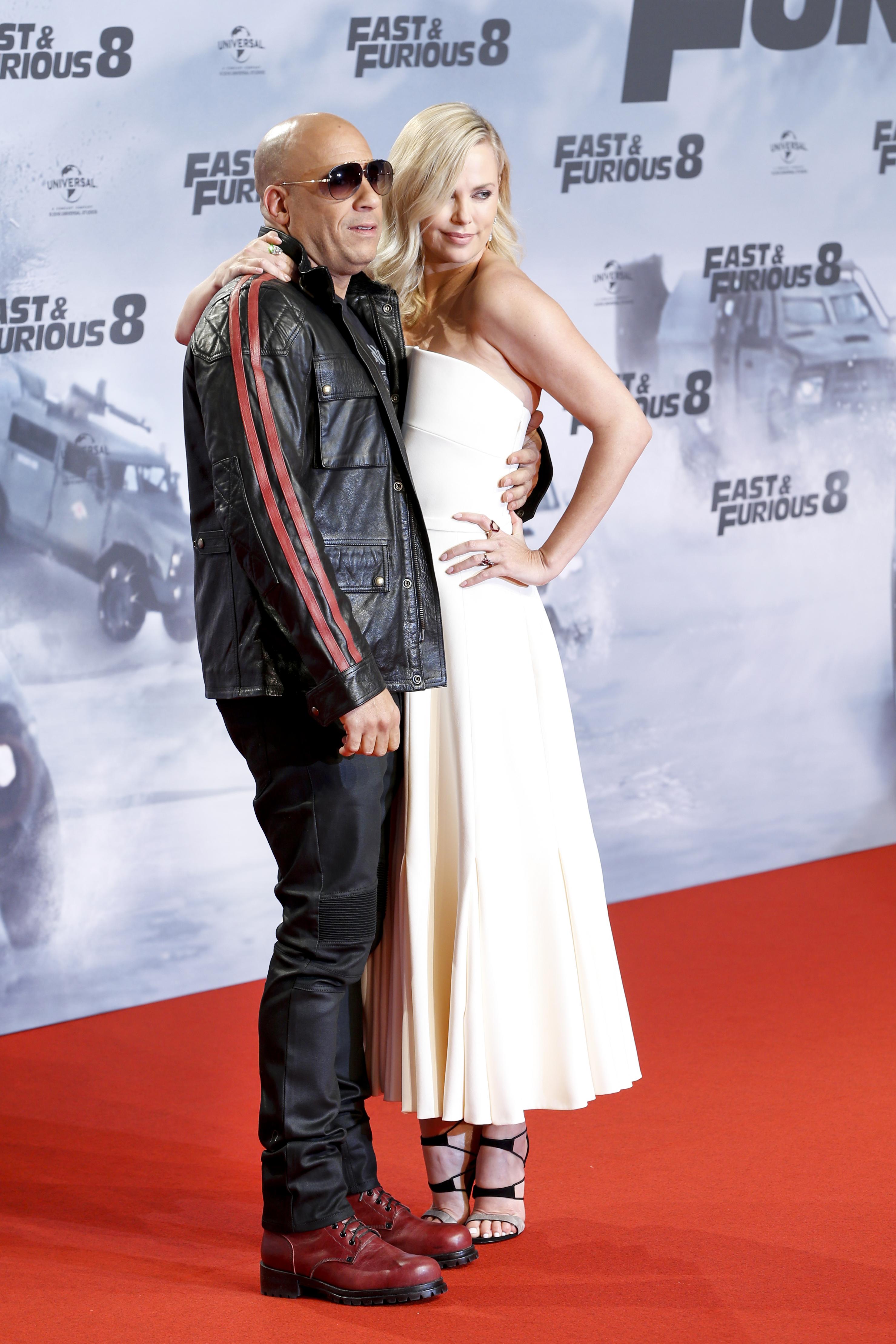 Charlize Theron y Vin Diesel