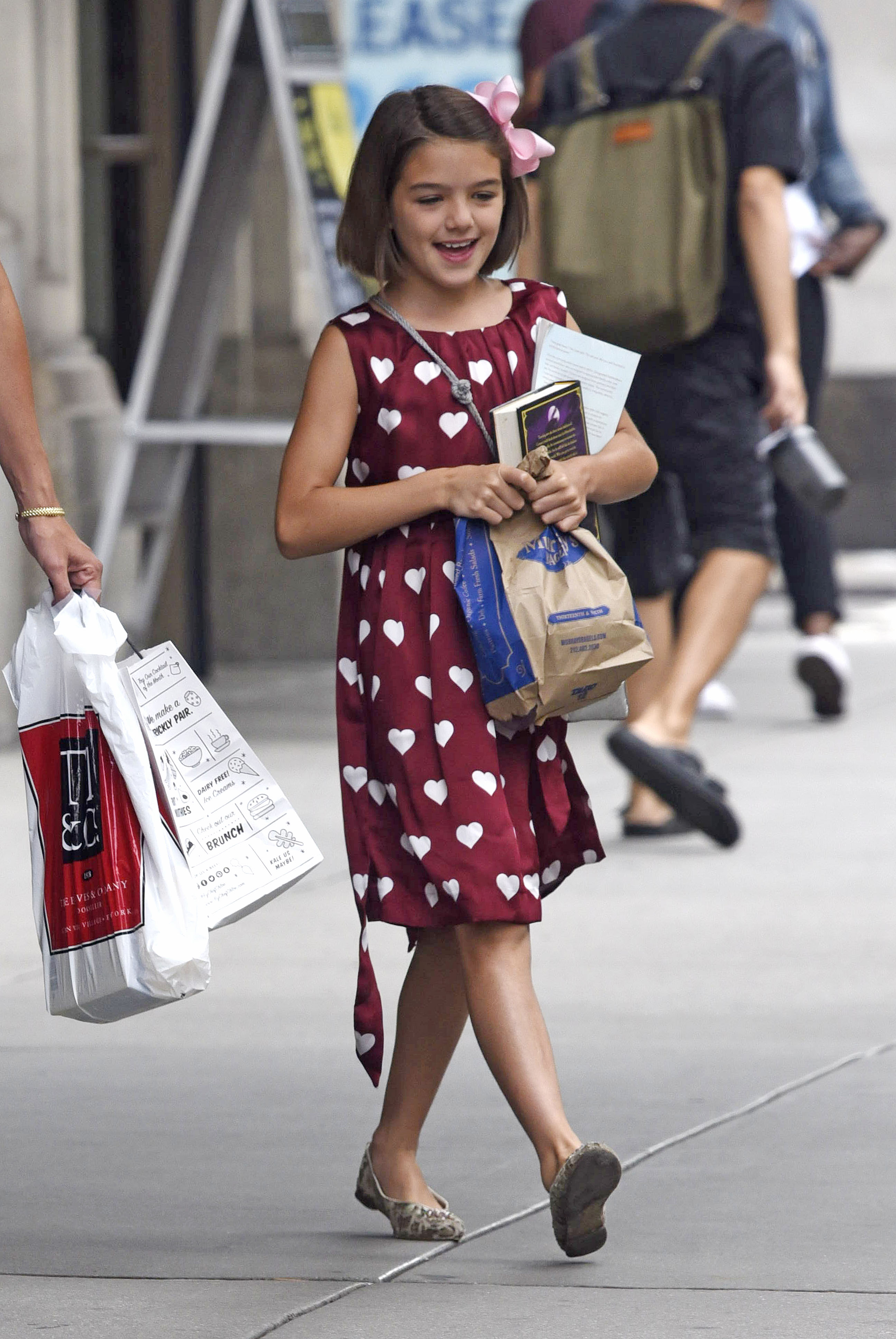 EXCLUSIVE Katie Holmes Looks Comfortable and Casual with Chic Suri Cruise by Her Side