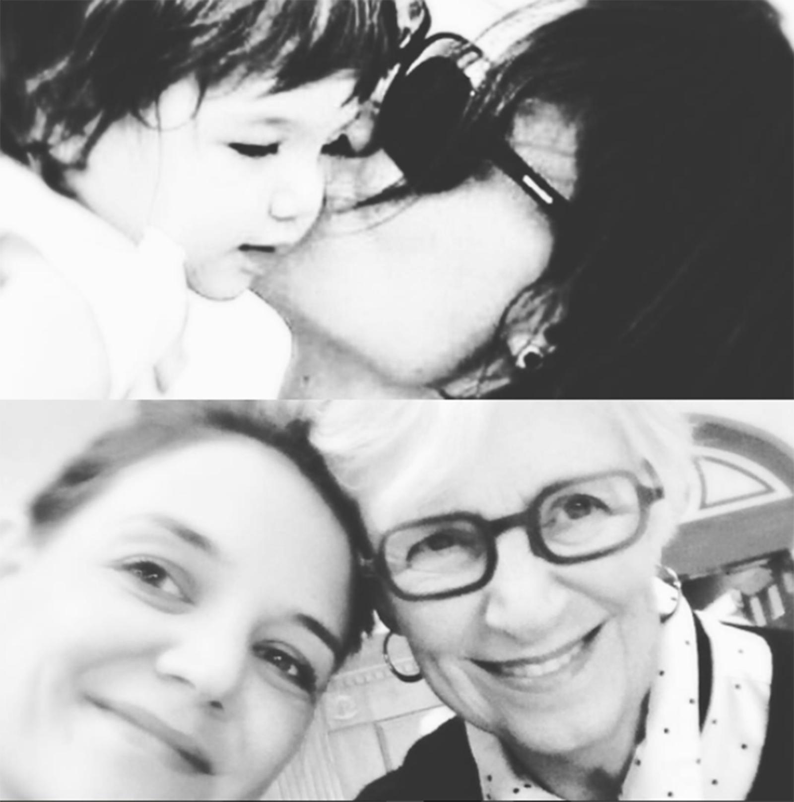 Suri Cruise con su mamá y abuelita