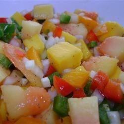 Salsa de papaya con mango