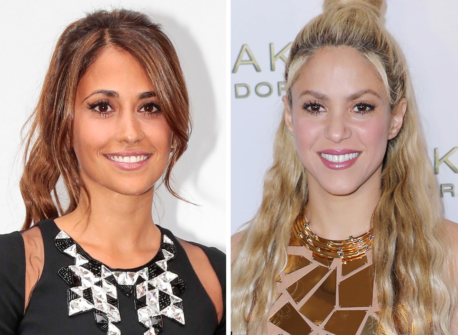 Antonella Roccuzzo y Shakira