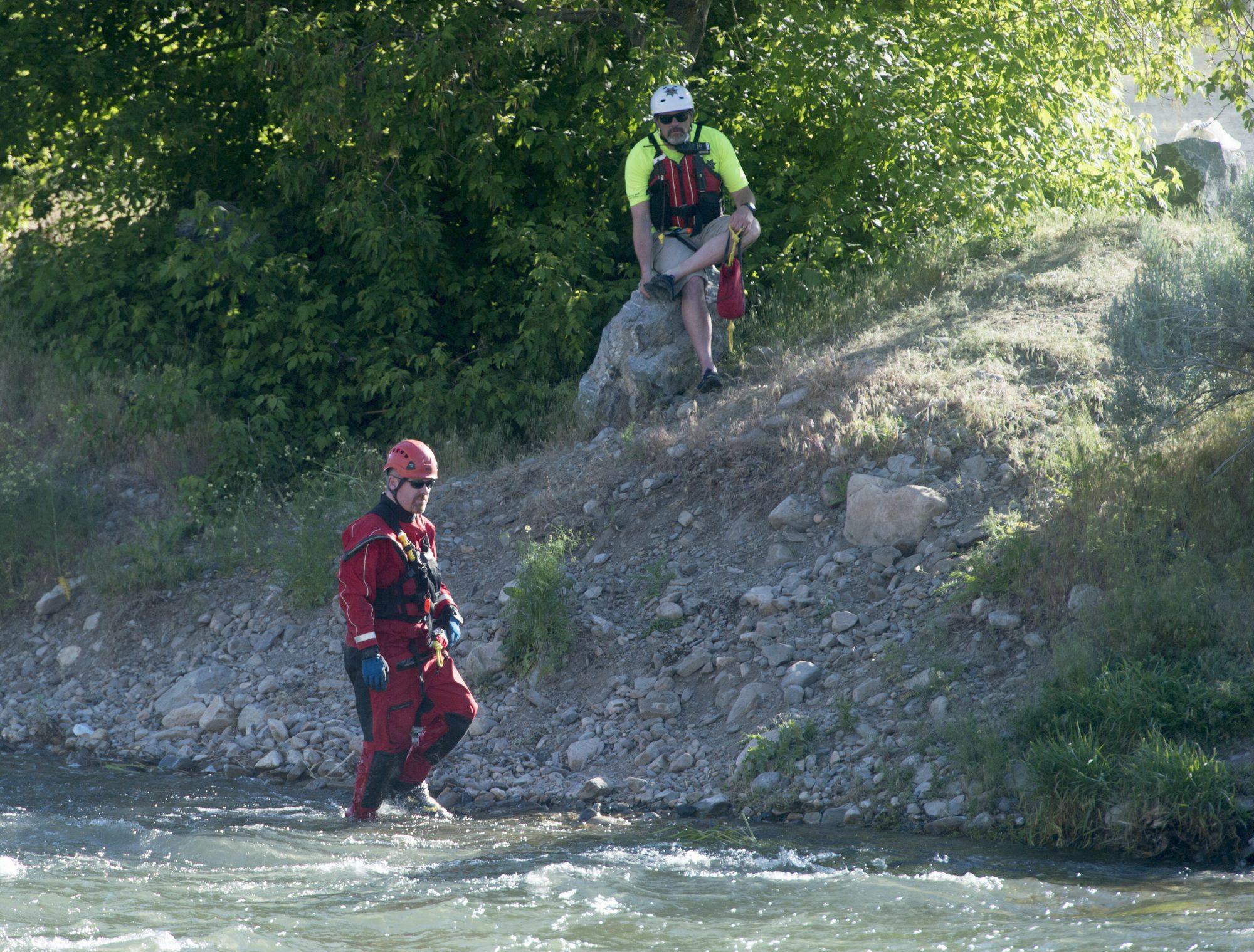 Rescate de niña que murio ahogada en el rio Provo