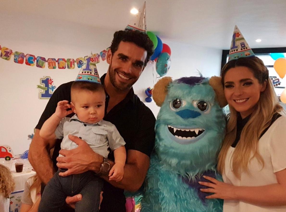 Ariadne Díaz, Marcus Ornellas y su hijo